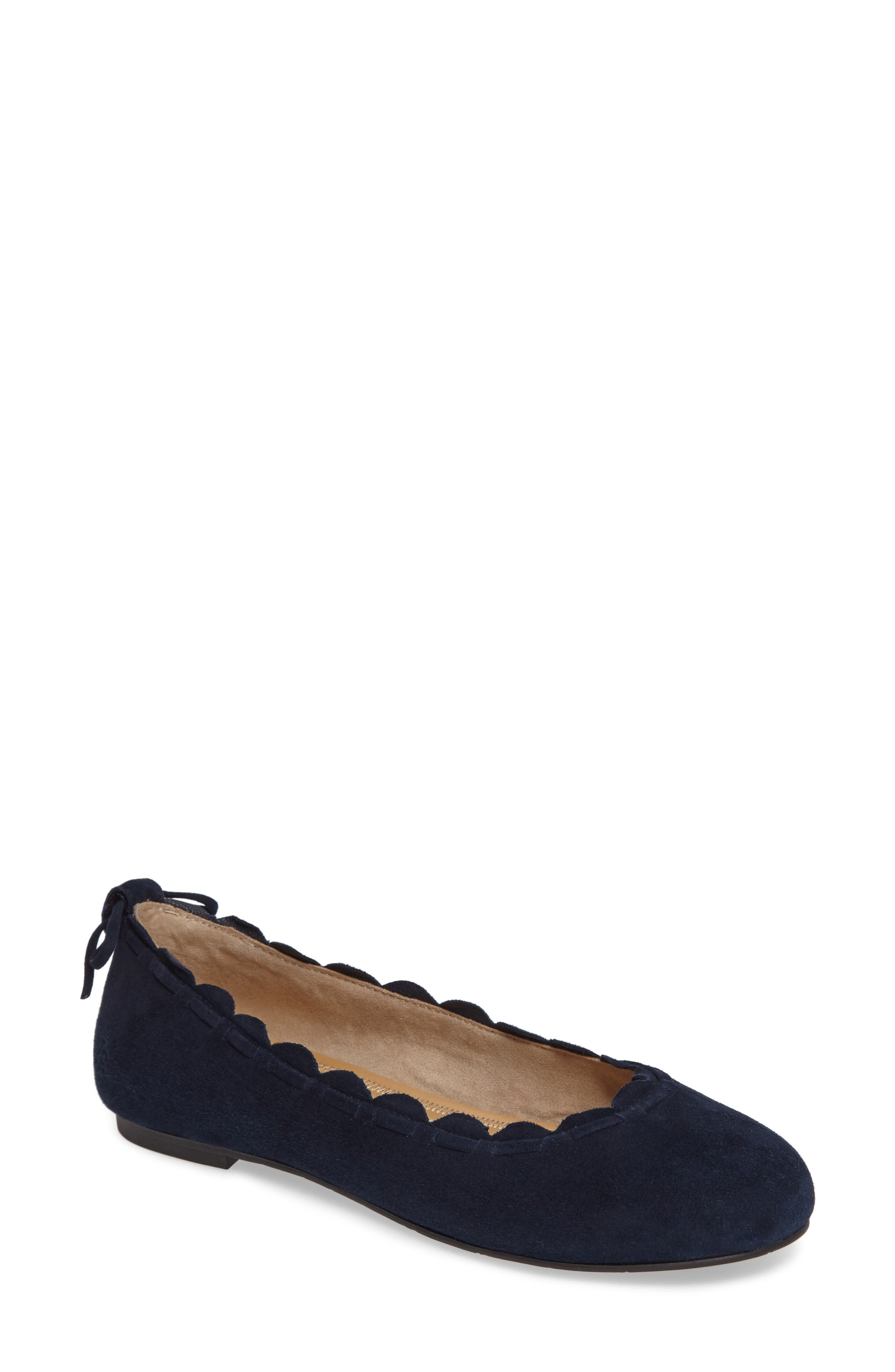 Alternate Image 1 Selected - Jack Rogers Lucie Scalloped Flat (Women)