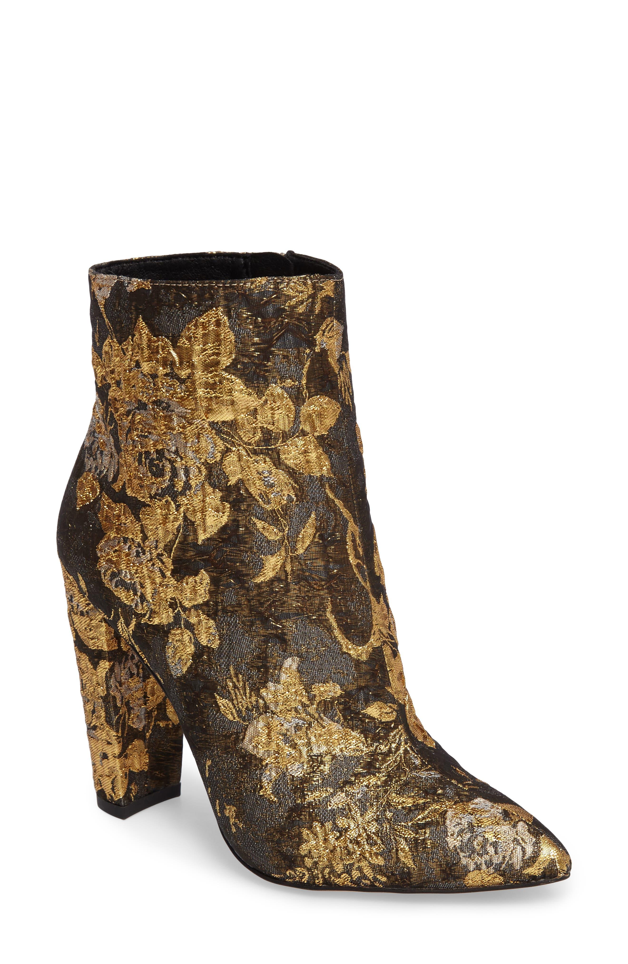 Teddi Crescent-Heel Bootie,                         Main,                         color, Metallic Mul