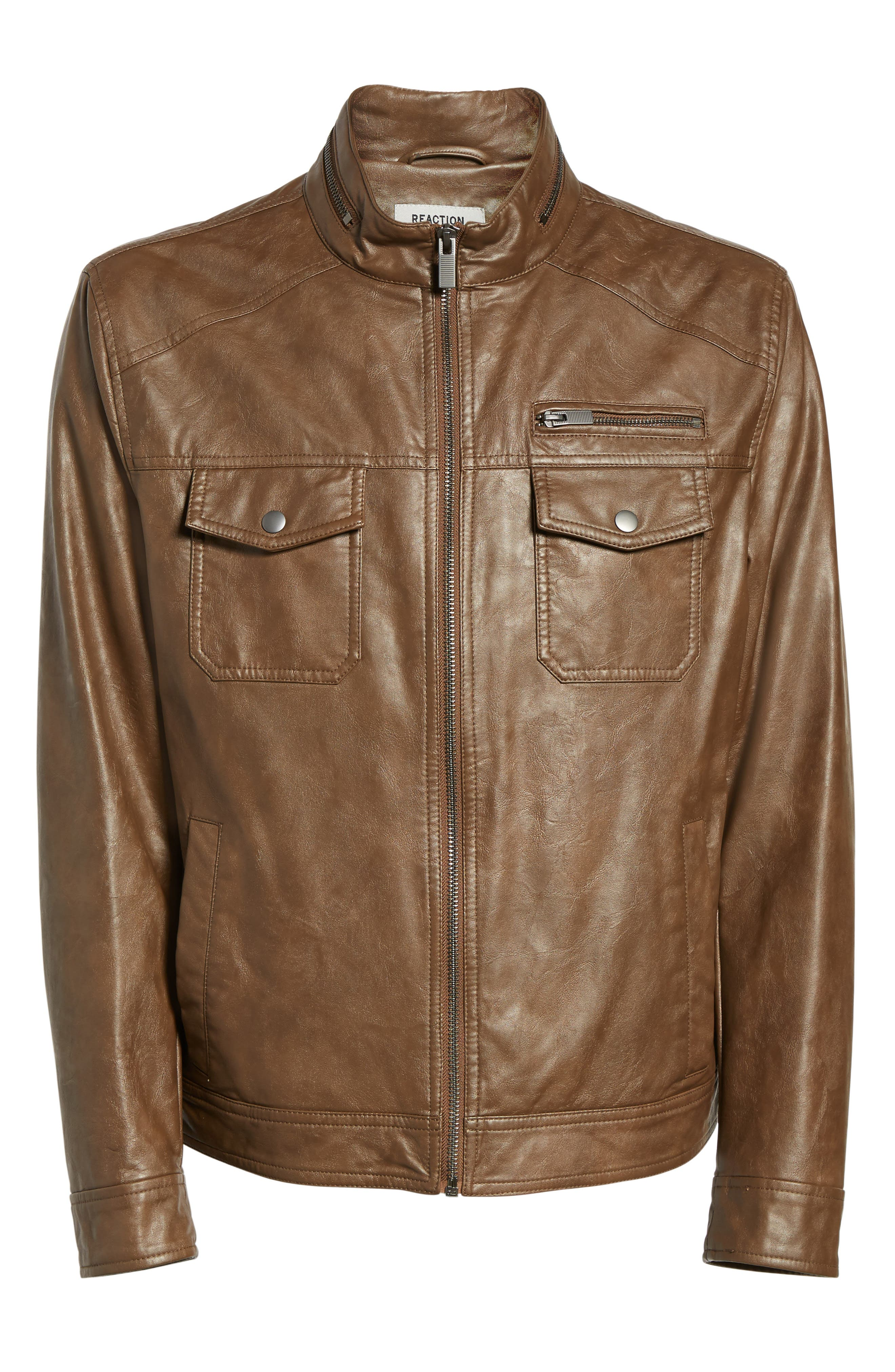 Alternate Image 5  - Reaction Kenneth Cole Faux Leather Jacket