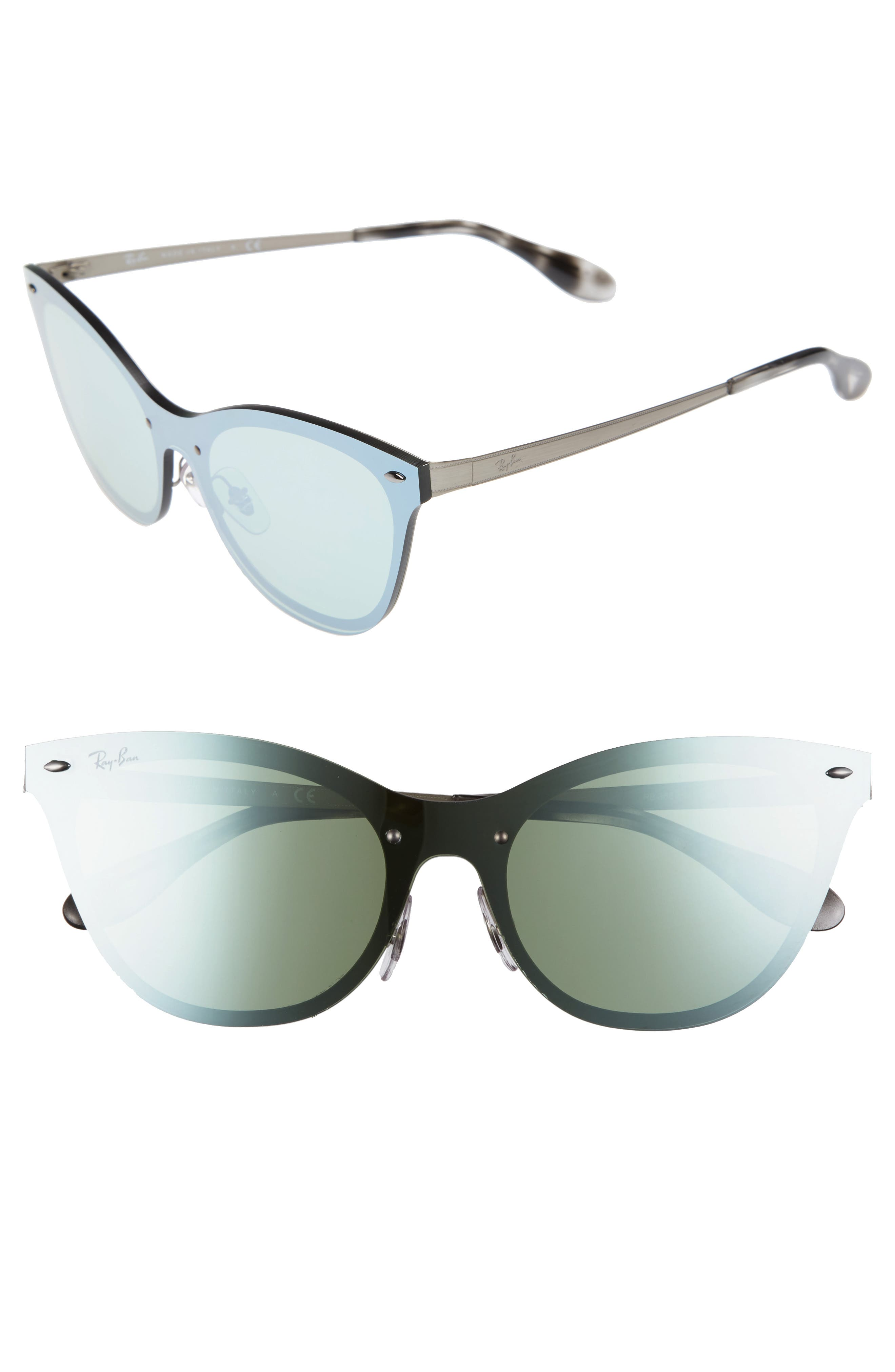 Alternate Image 1 Selected - Ray-Ban 50mm Blaze Clubmaster Mirrored Sunglasses
