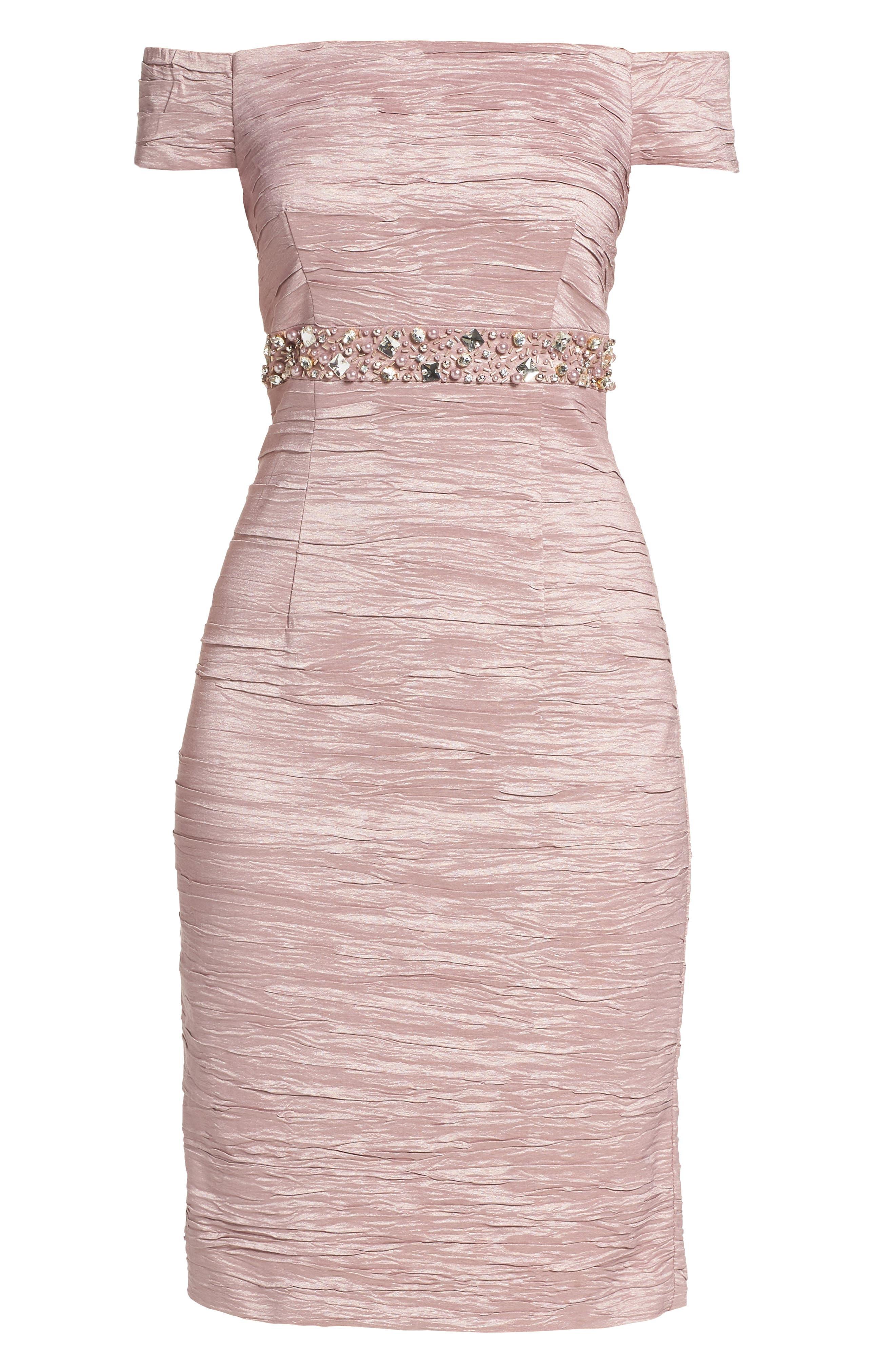 Alternate Image 6  - Eliza J Off the Shoulder Taffeta Dress (Regular & Petite)