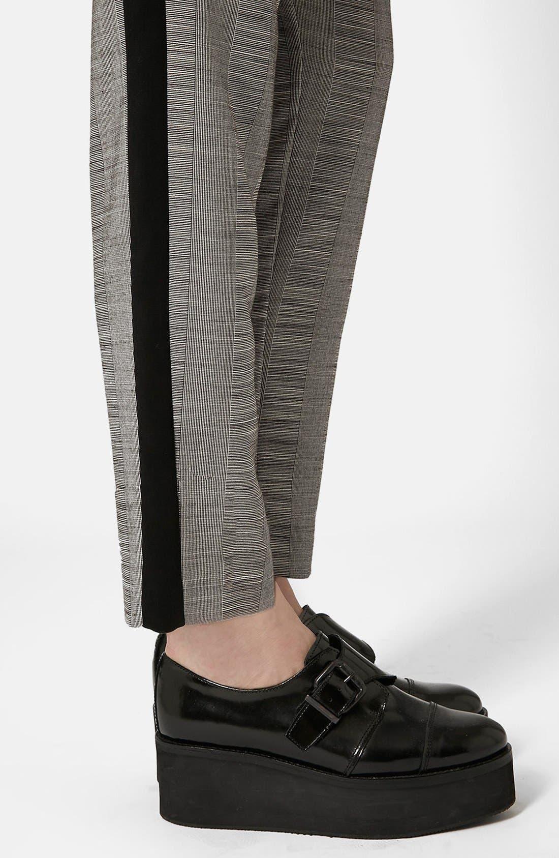 Alternate Image 3  - Topshop Check Tailored Jogger Pants