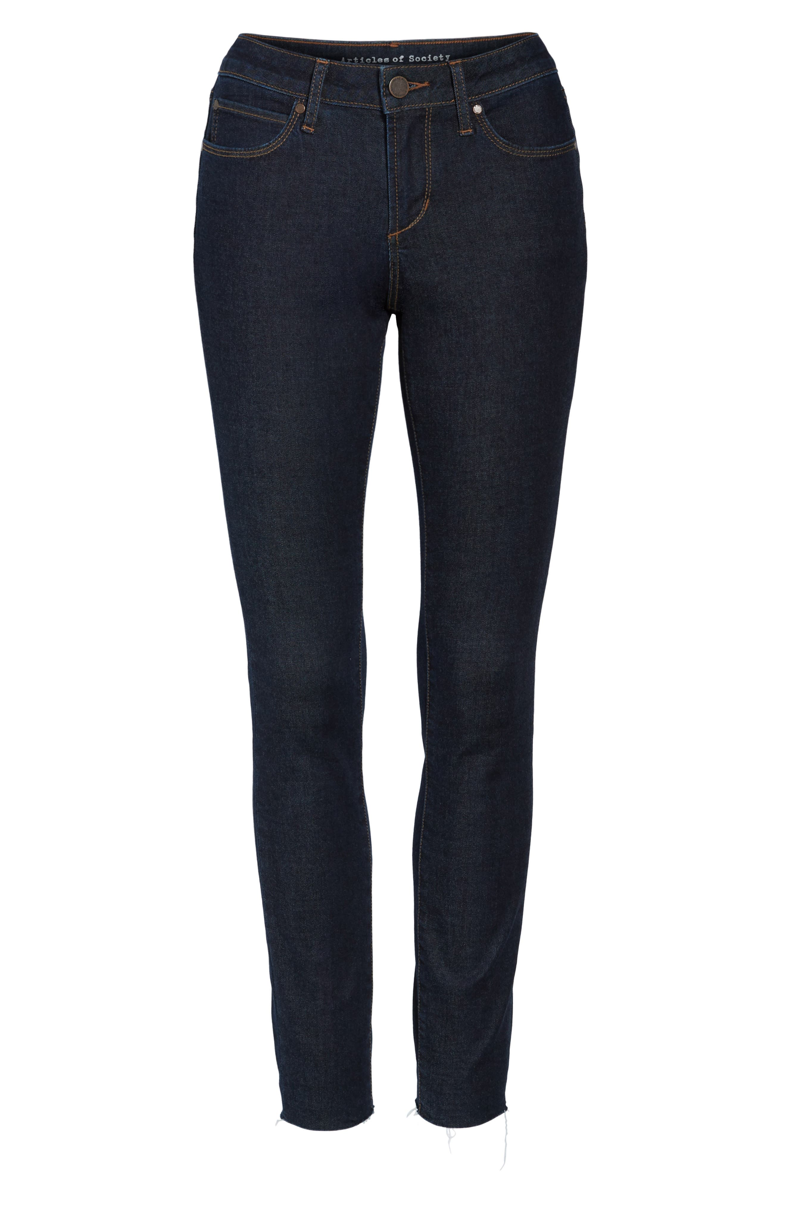 Alternate Image 7  - Articles of Society Sarah Ankle Skinny Jeans (Elm)