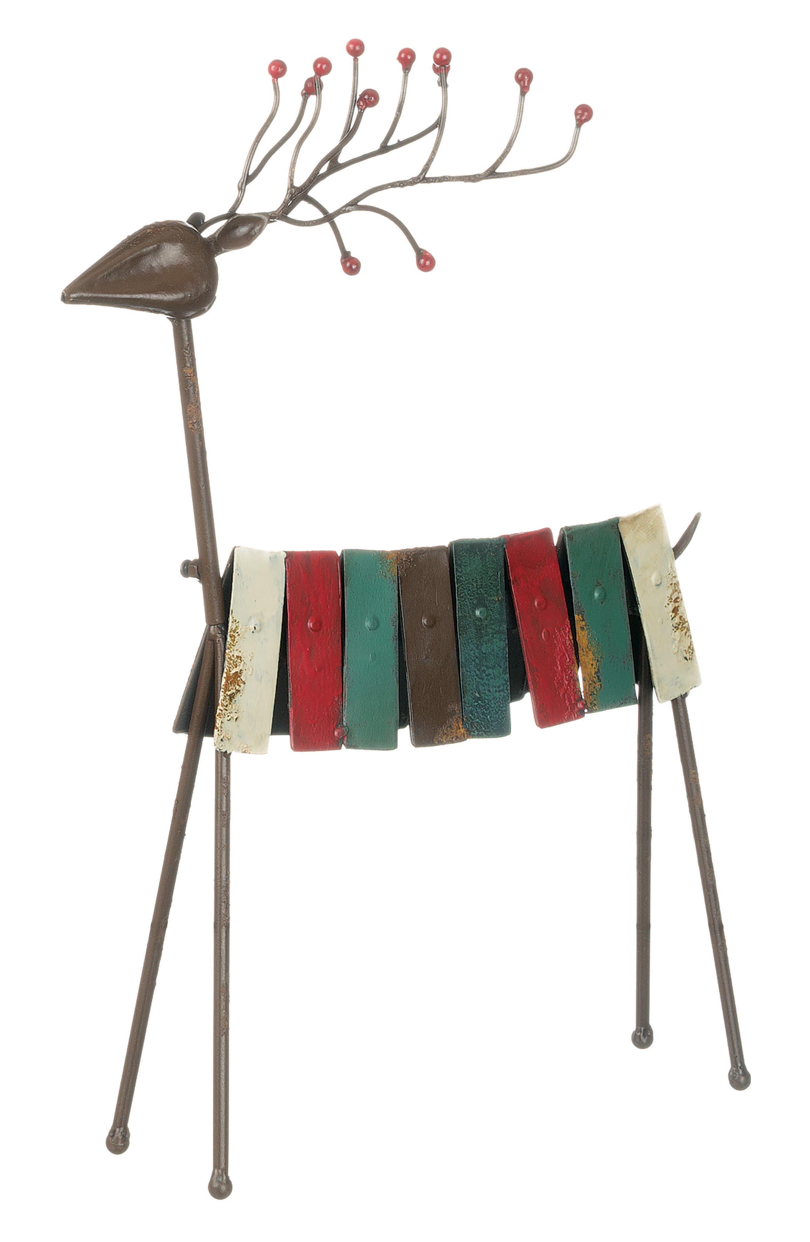 Metal Reindeer,                         Main,                         color, Red