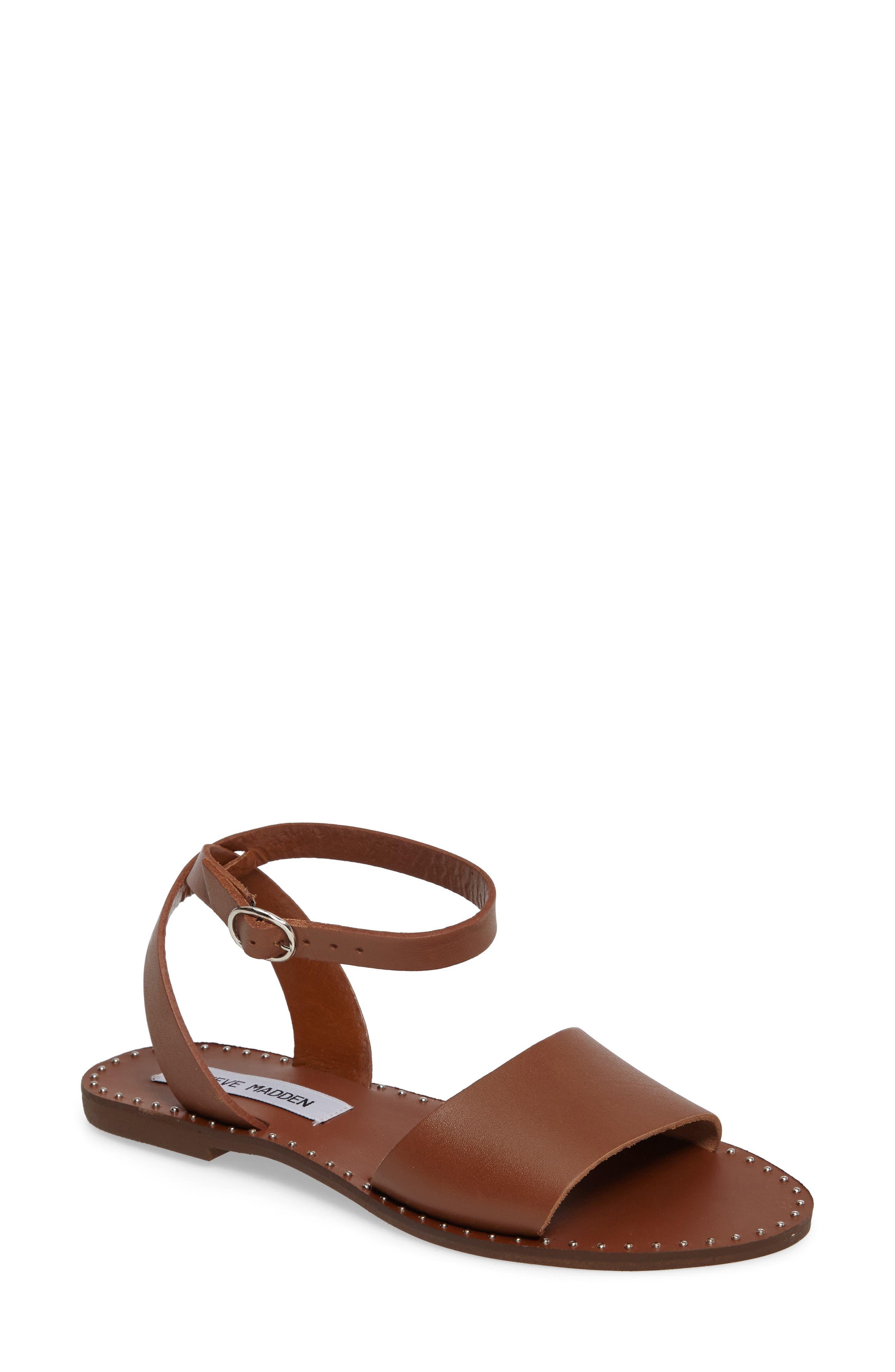 Alternate Image 1 Selected - Steve Madden Danny Ankle Strap Sandal (Women)