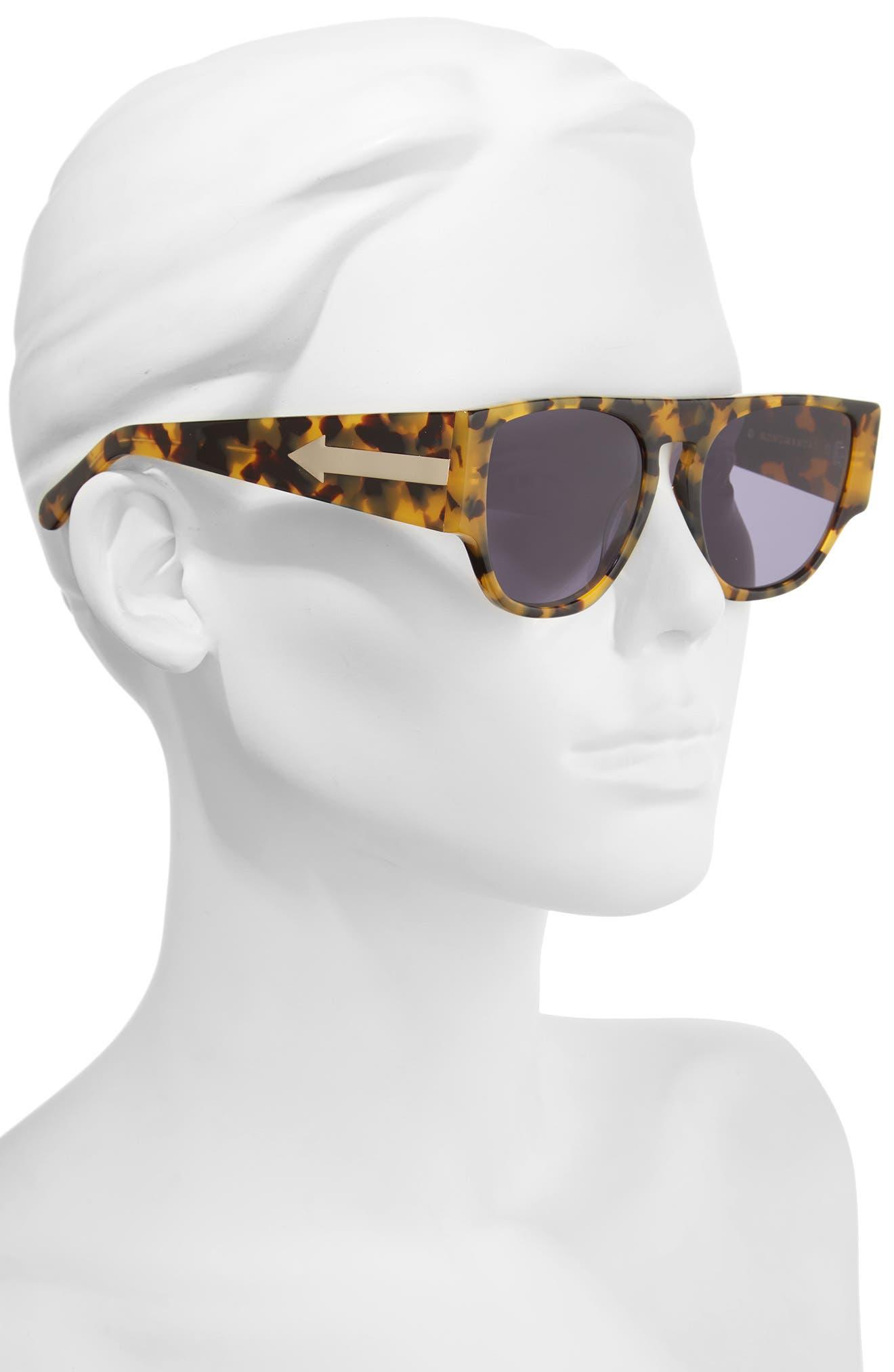 x Monumental Buzz 54mm Polarized Sunglasses,                             Alternate thumbnail 2, color,                             Crazy Tortoise
