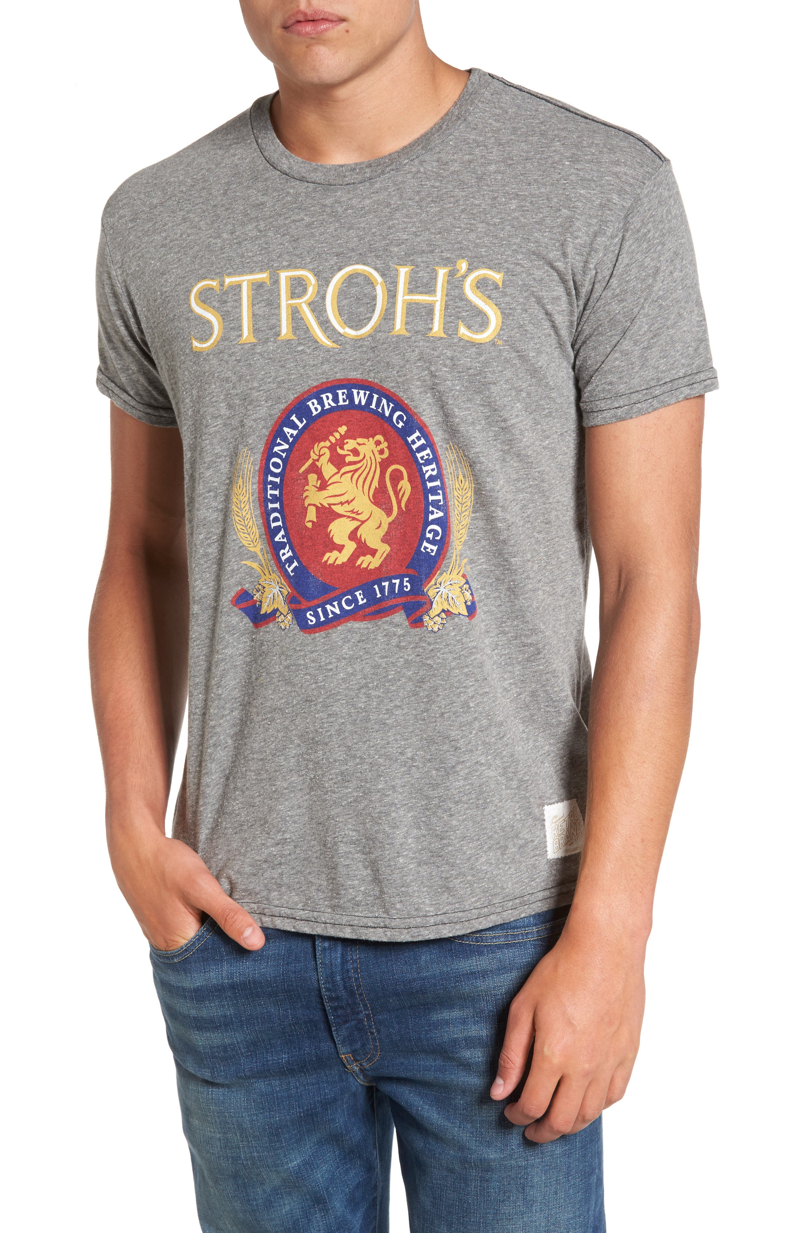 Alternate Image 1 Selected - Retro Brand Stroh's Graphic T-Shirt