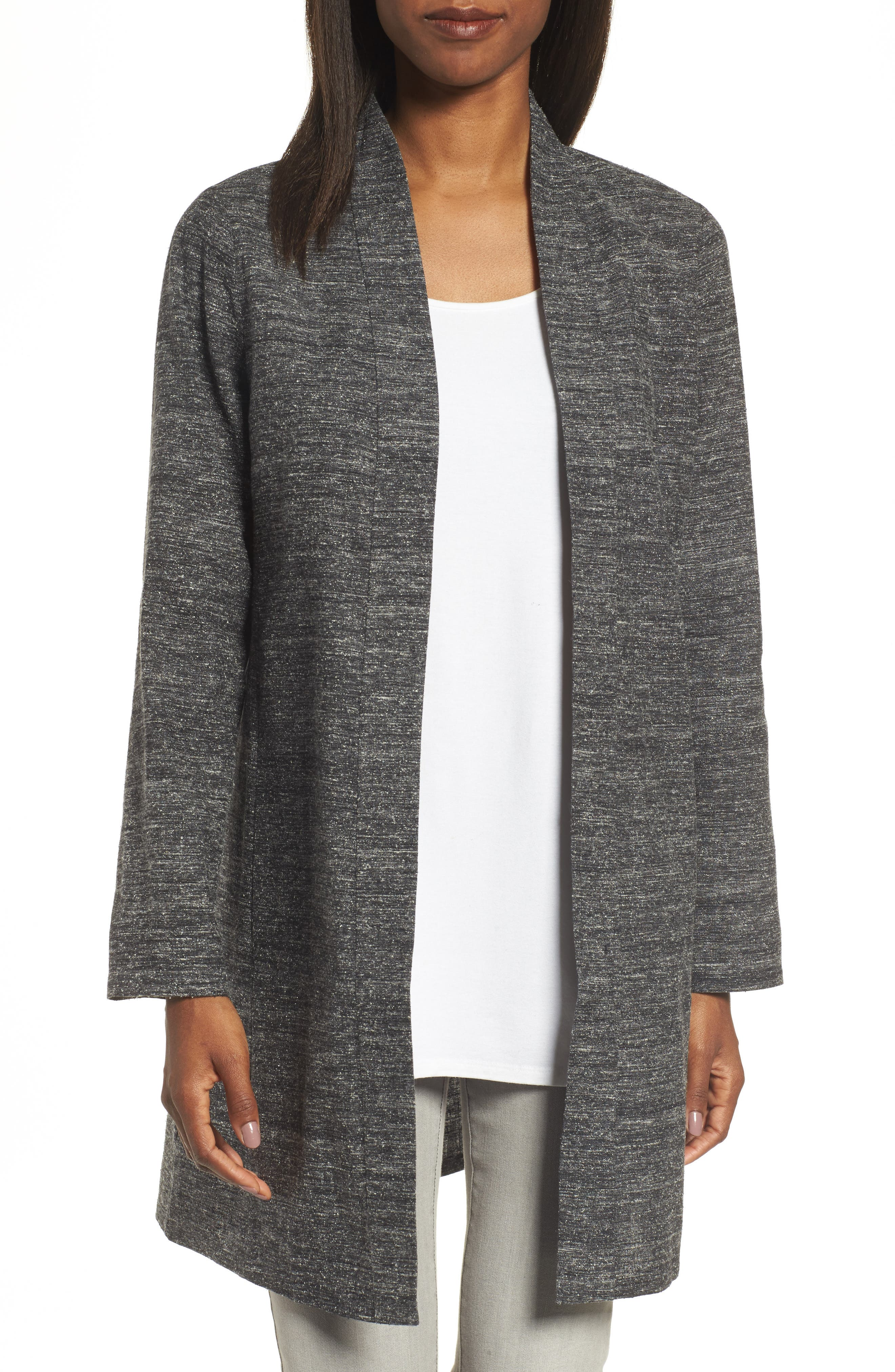 Alternate Image 1 Selected - Eileen Fisher Silk & Organic Linen Duster