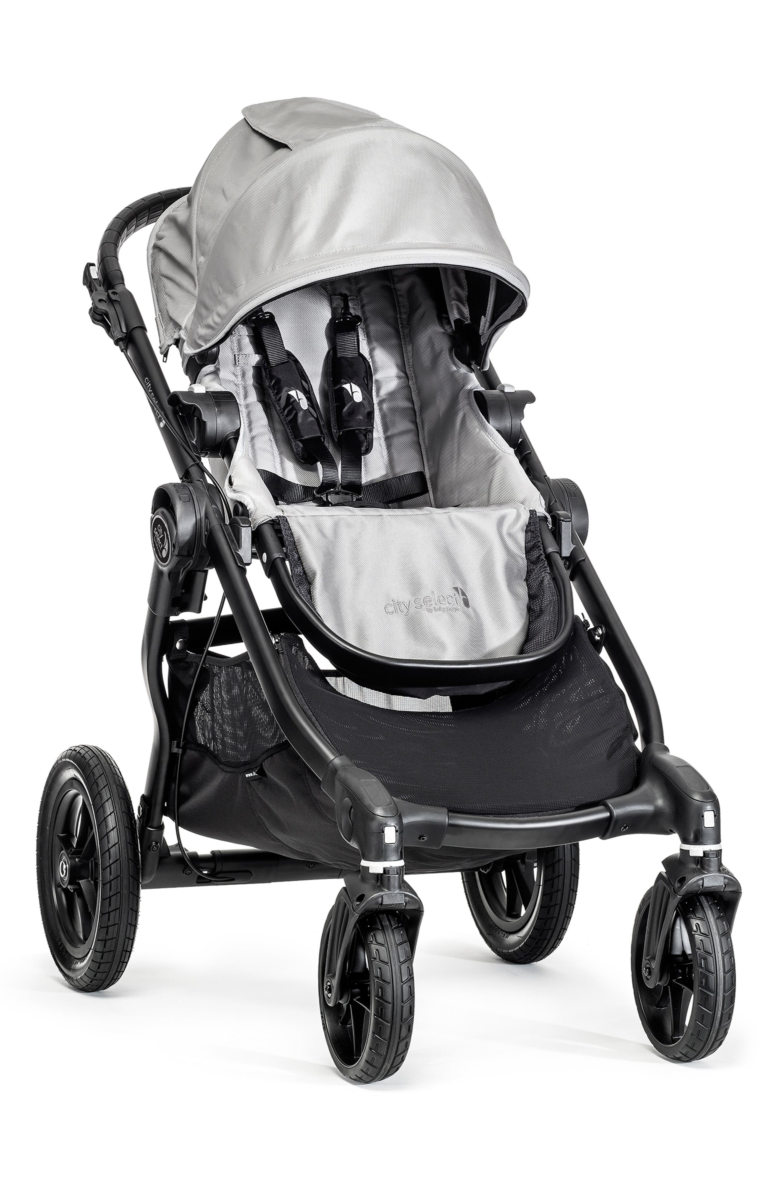 City Select<sup>®</sup> Stroller & Belly Bar,                         Main,                         color, Silver