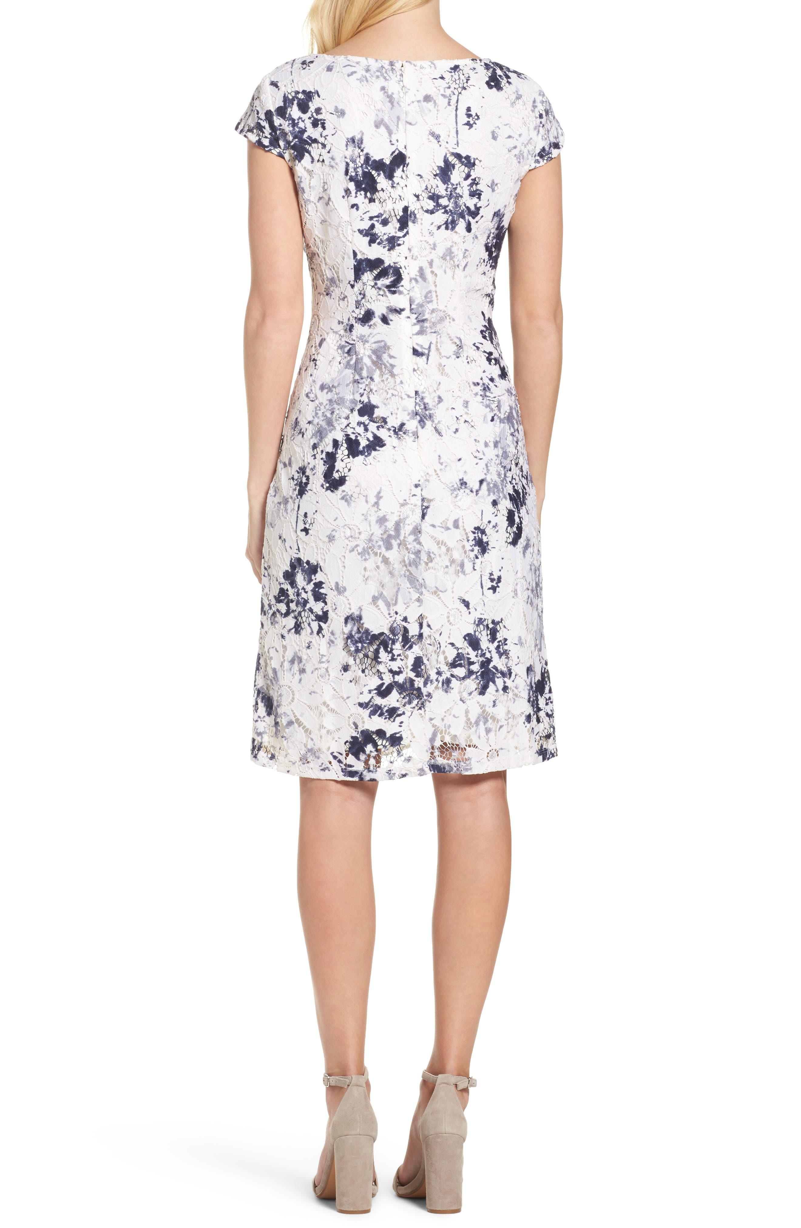 Alternate Image 2  - Chetta B Lace Sheath Dress