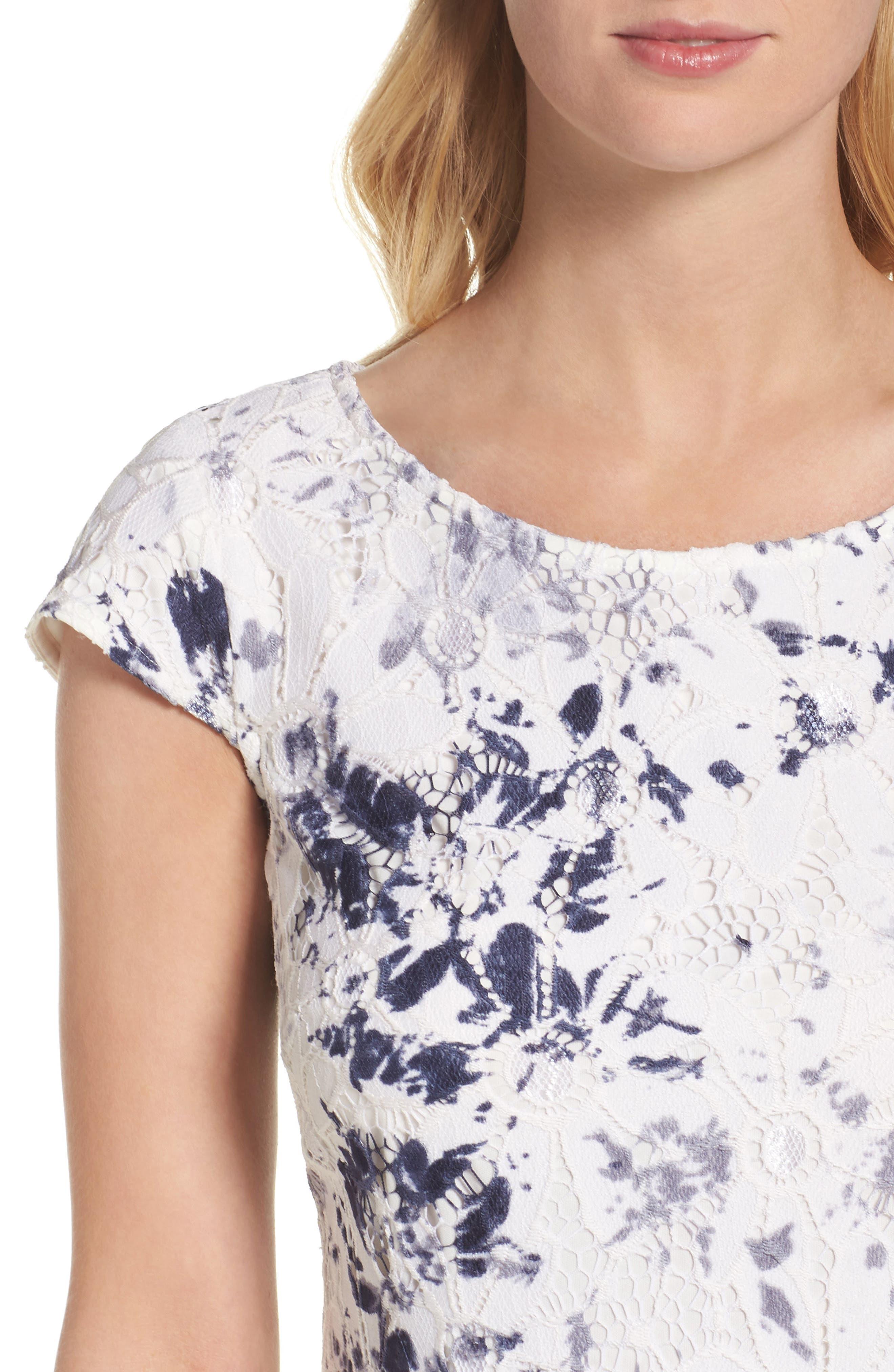 Alternate Image 4  - Chetta B Lace Sheath Dress