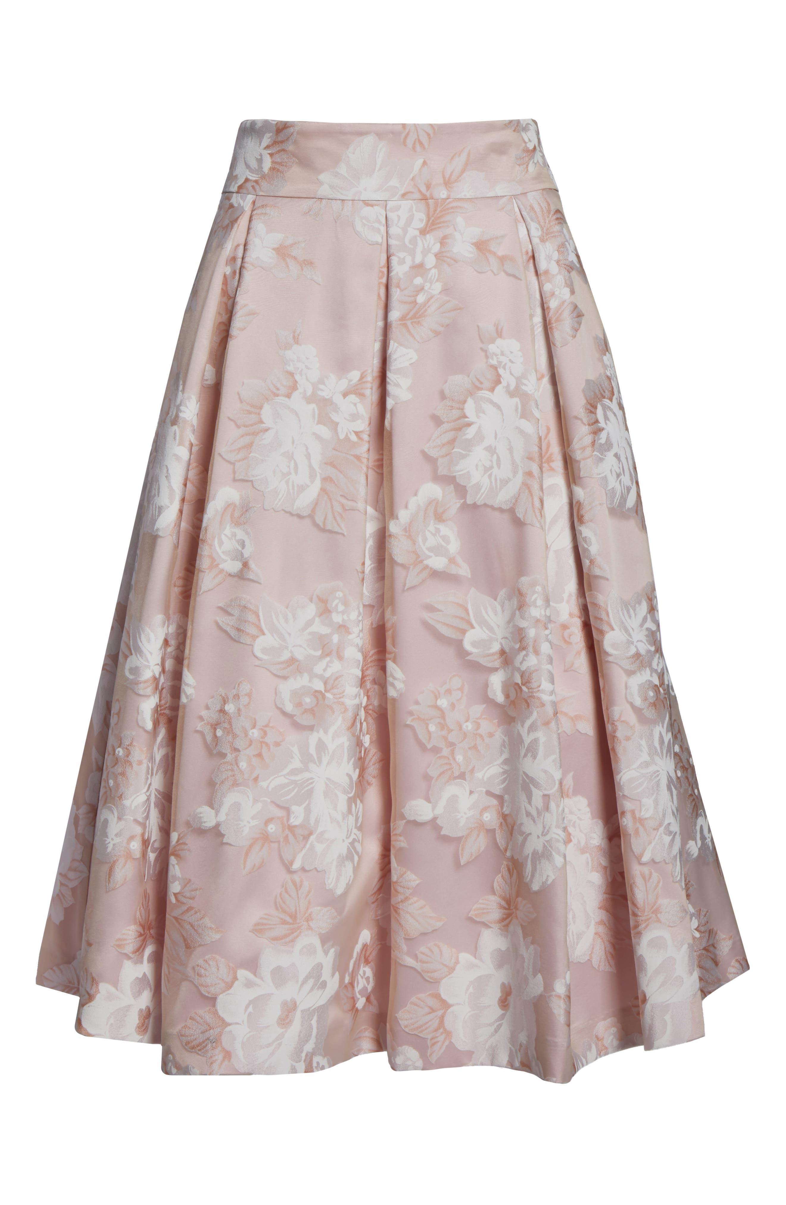Alternate Image 6  - Eliza J Floral Print Organza Midi Skirt
