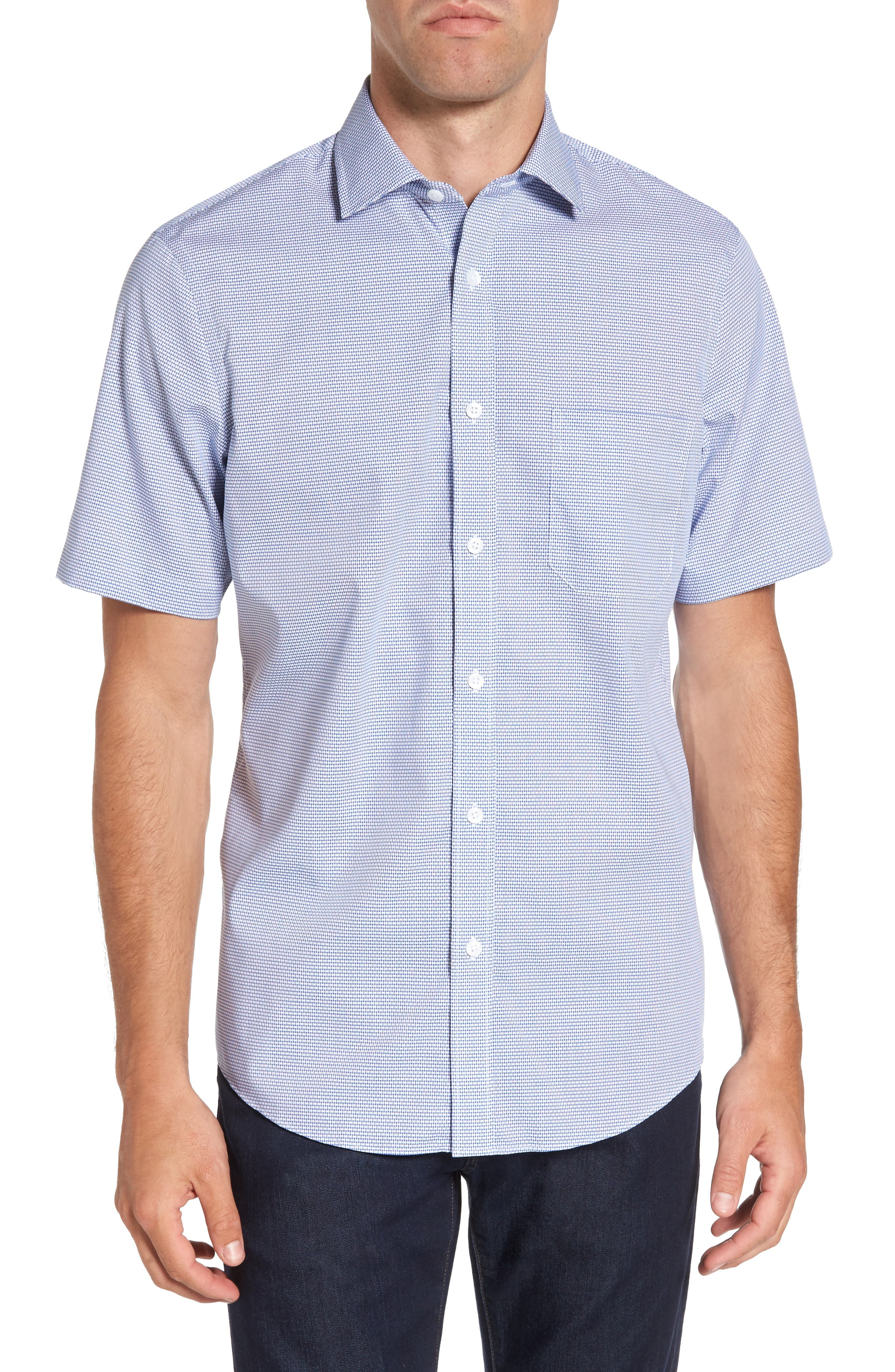 Nordstrom Men's Shop Regular Fit Dobby Sport Shirt (Regular & Tall)