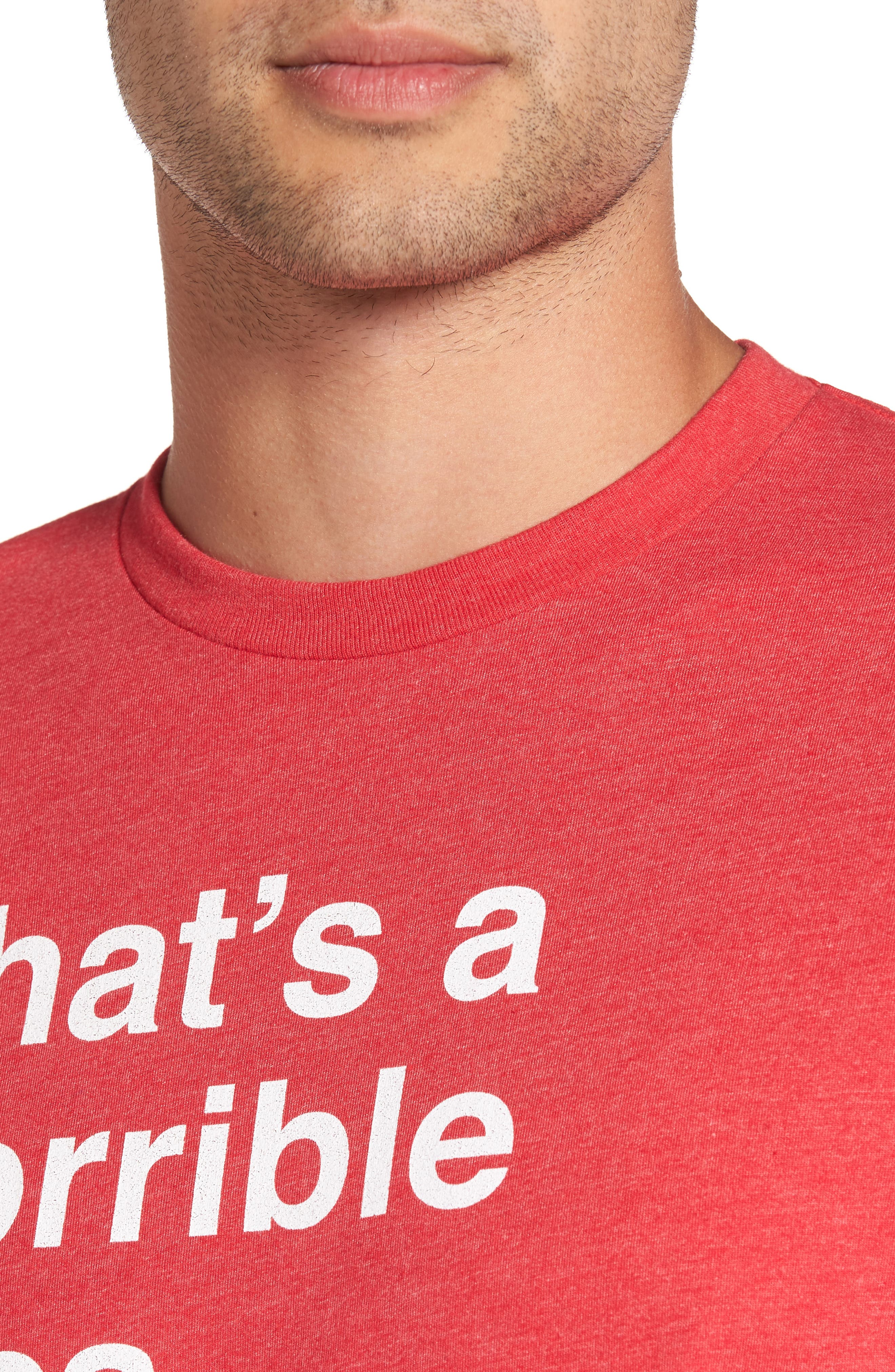 Horrible Idea Graphic T-Shirt,                             Alternate thumbnail 4, color,                             Red