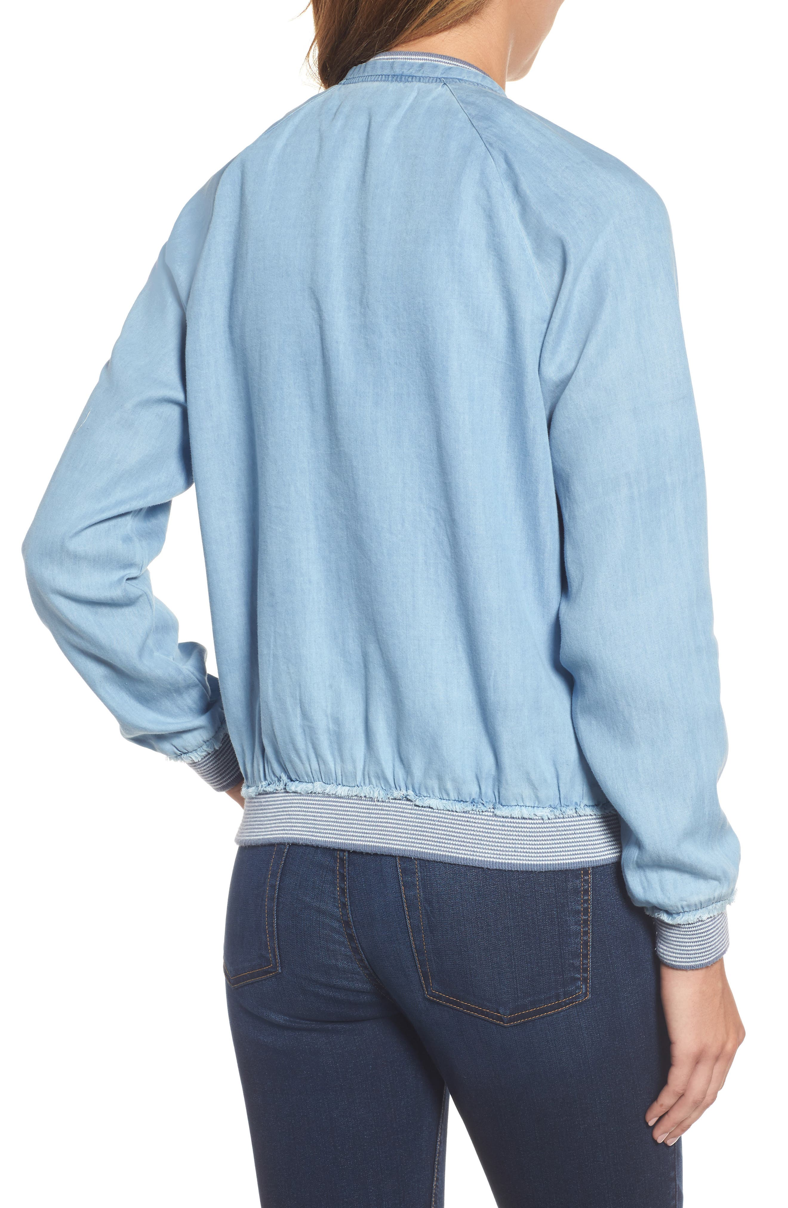 Alternate Image 2  - Wit & Wisdom Chambray Bomber Jacket (Nordstrom Exclusive)
