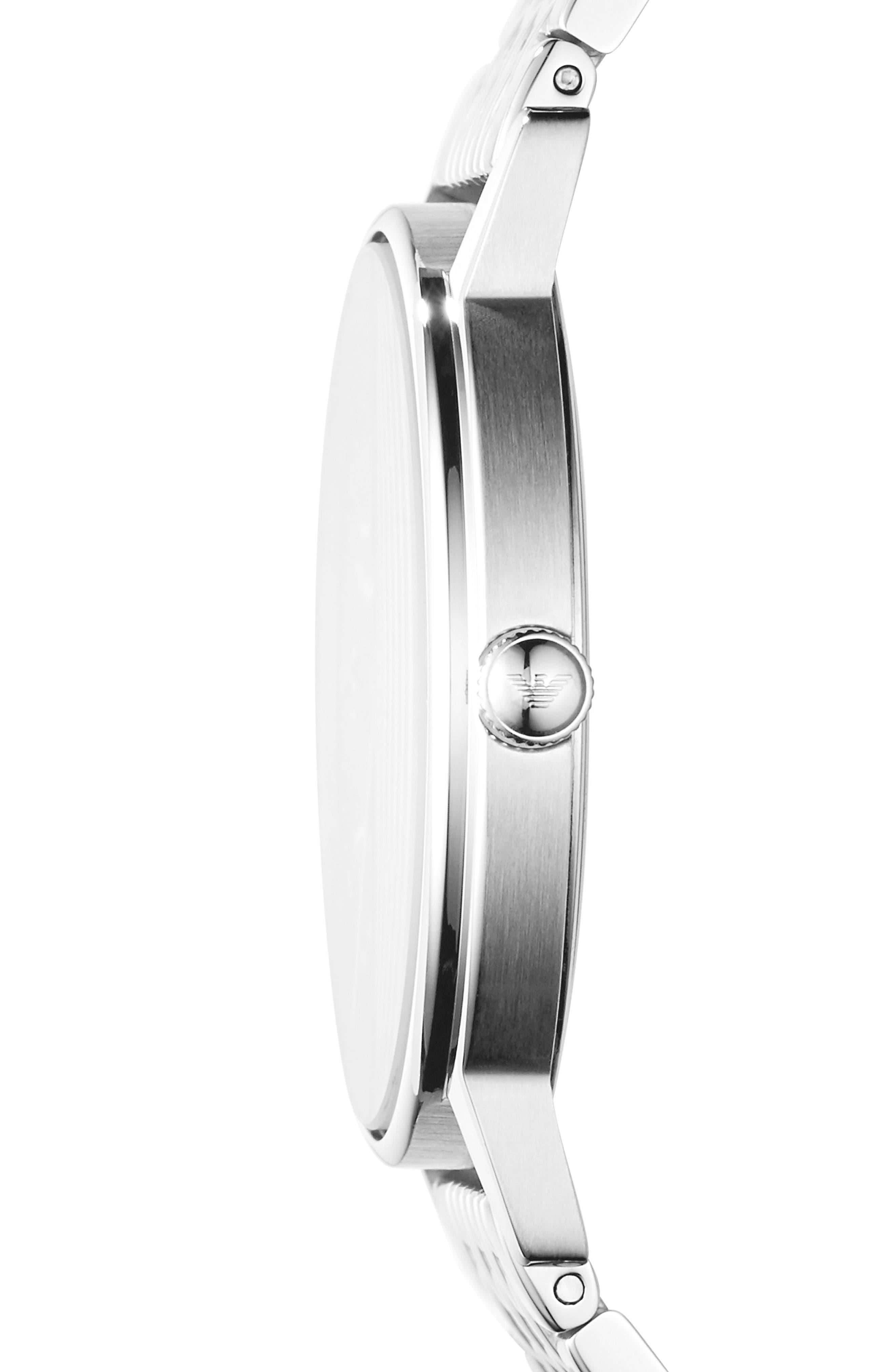 Round Bracelet Watch, 41mm,                             Alternate thumbnail 2, color,                             Black/ Silver
