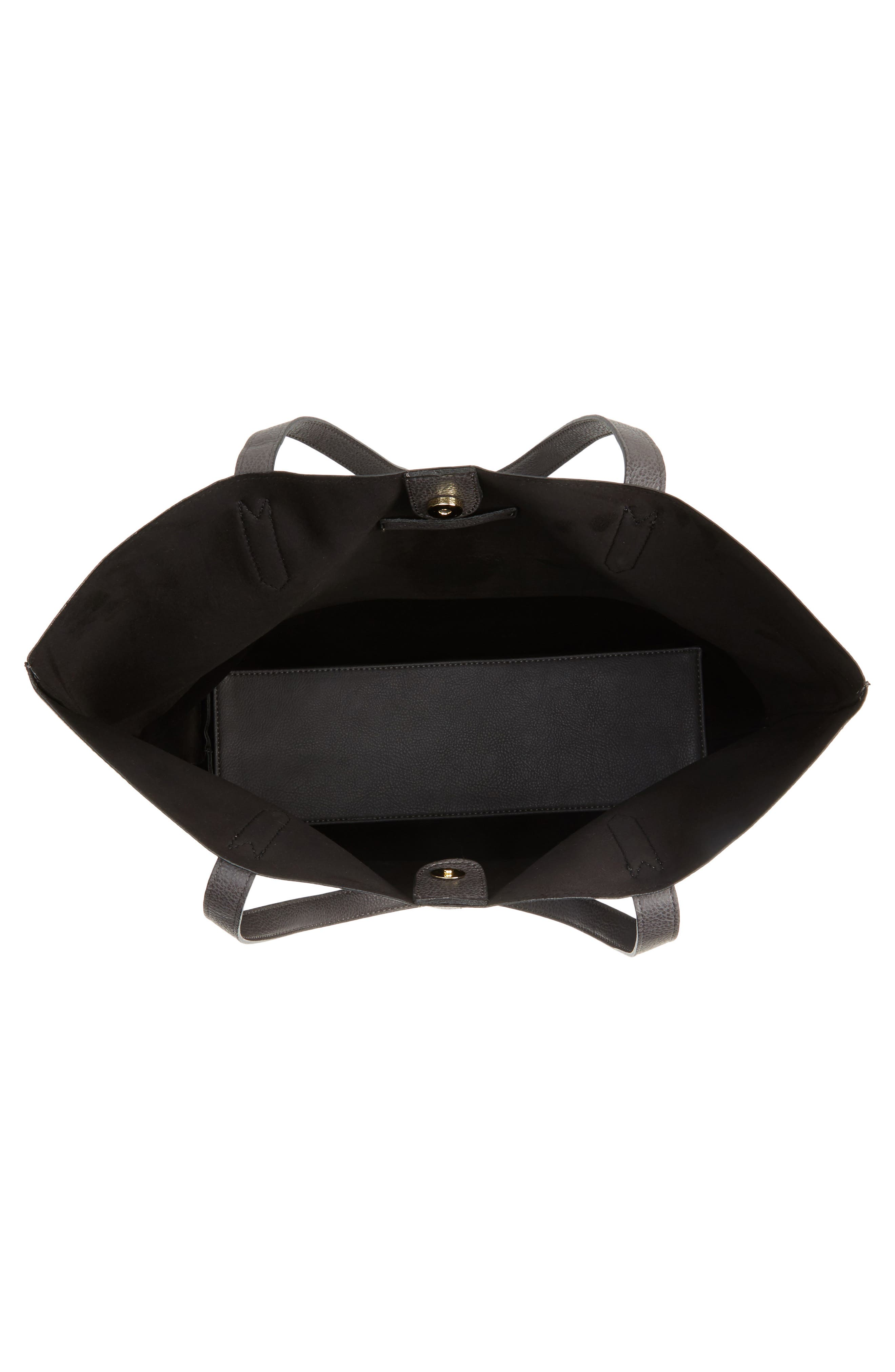 Alternate Image 4  - Sole Society Dawson Oversize Faux Leather Shopper