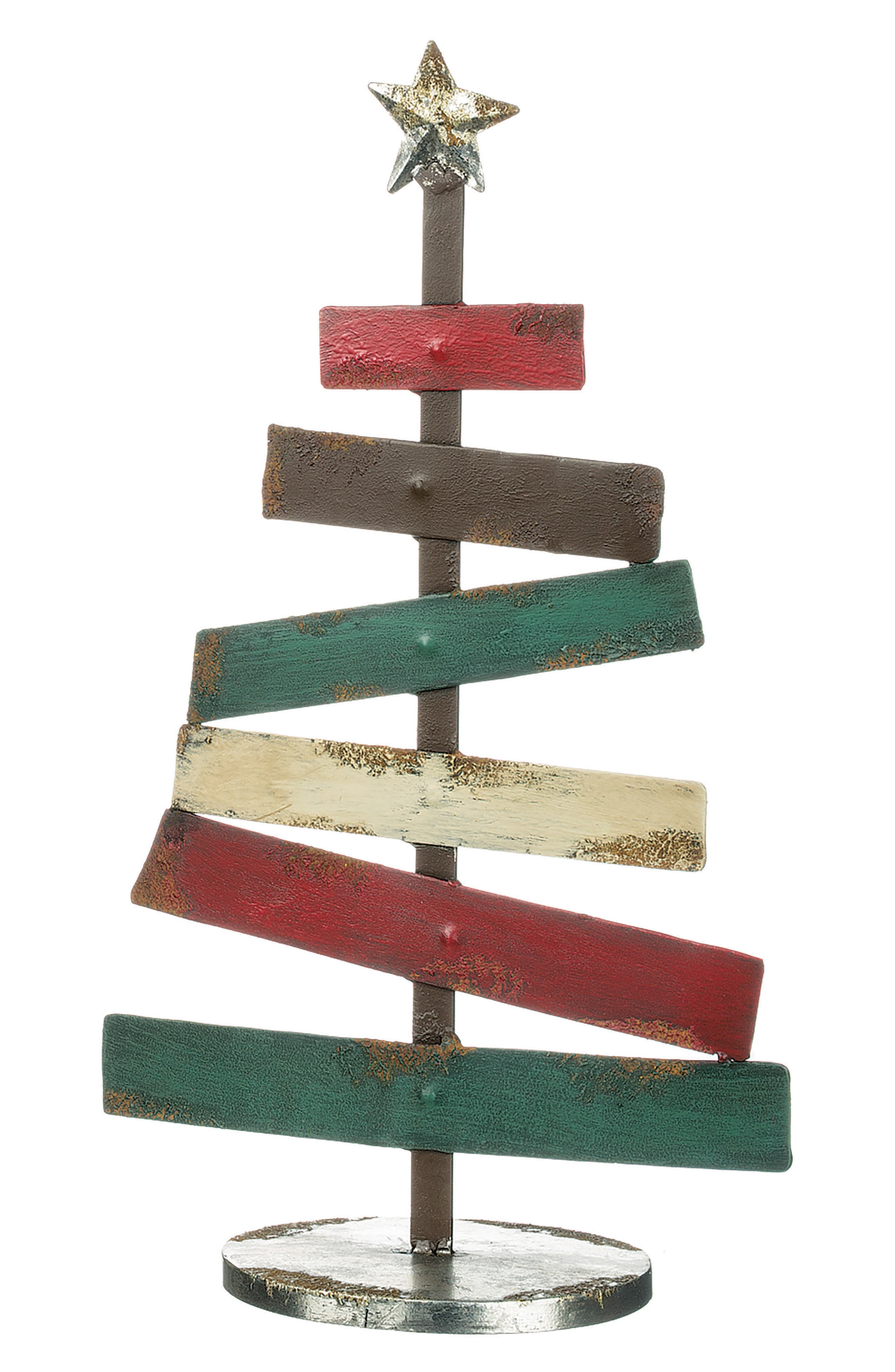 Metal Christmas Tree,                             Alternate thumbnail 2, color,                             Red