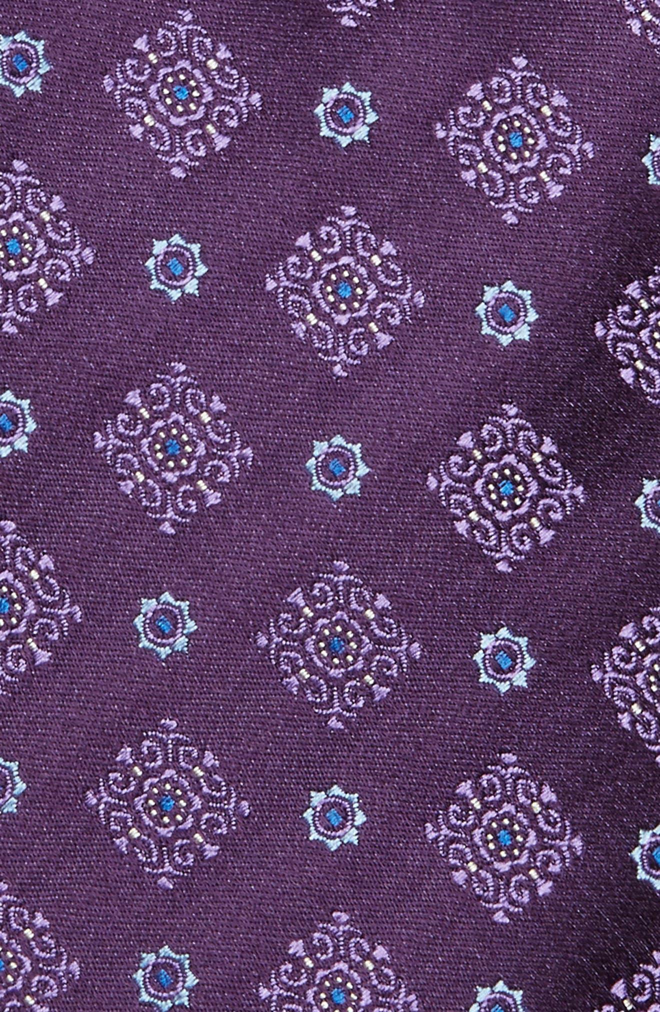 Alternate Image 2  - Canali Medallion Silk Tie