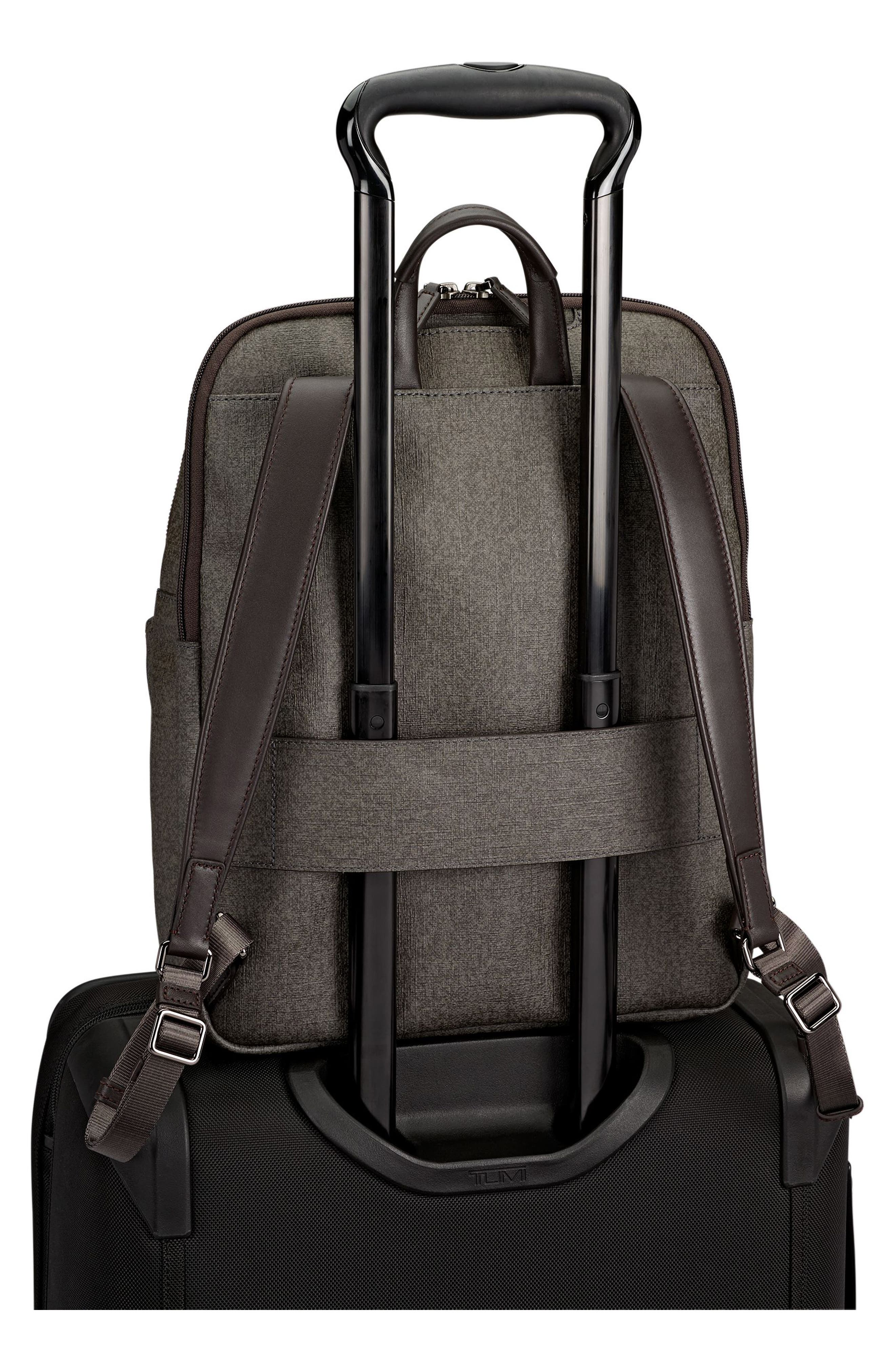Sinclair - Hanne Coated Canvas Laptop Backpack,                             Alternate thumbnail 6, color,                             Earl Grey