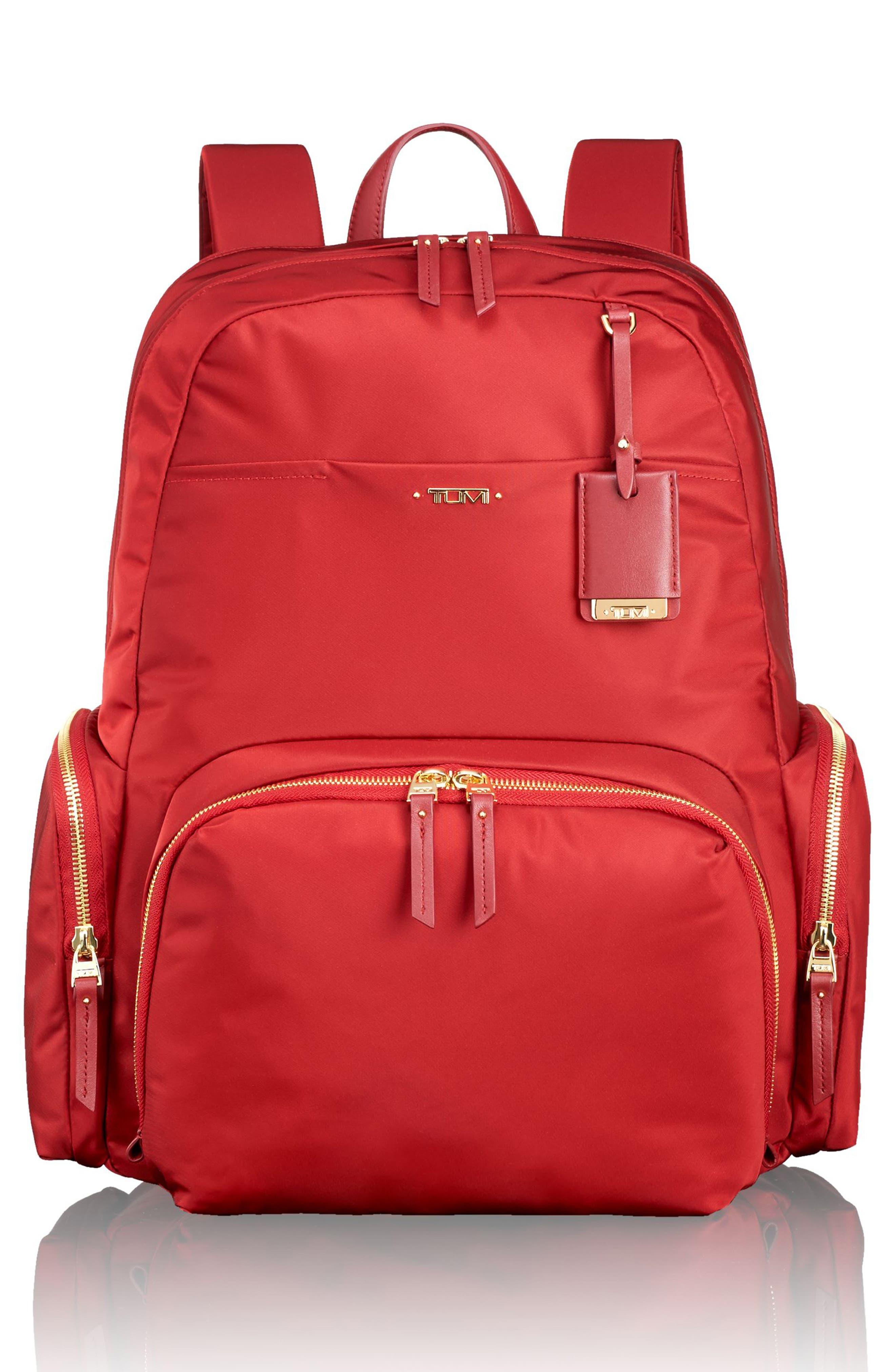 Calais Nylon 15-Inch Computer Commuter Backpack,                         Main,                         color, Crimson