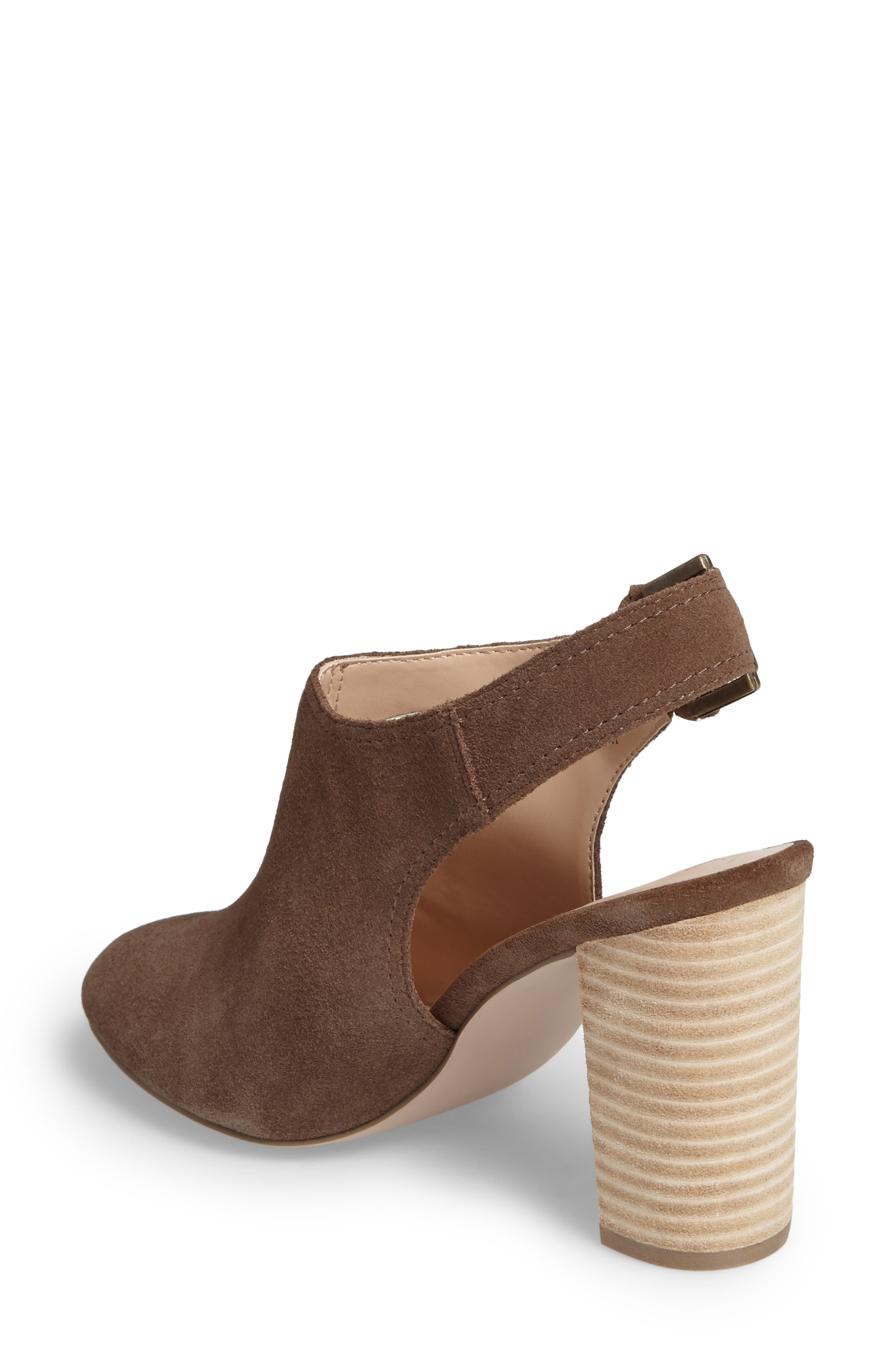 Apollo Slingback Bootie,                             Alternate thumbnail 2, color,                             Dark Taupe Suede Suede