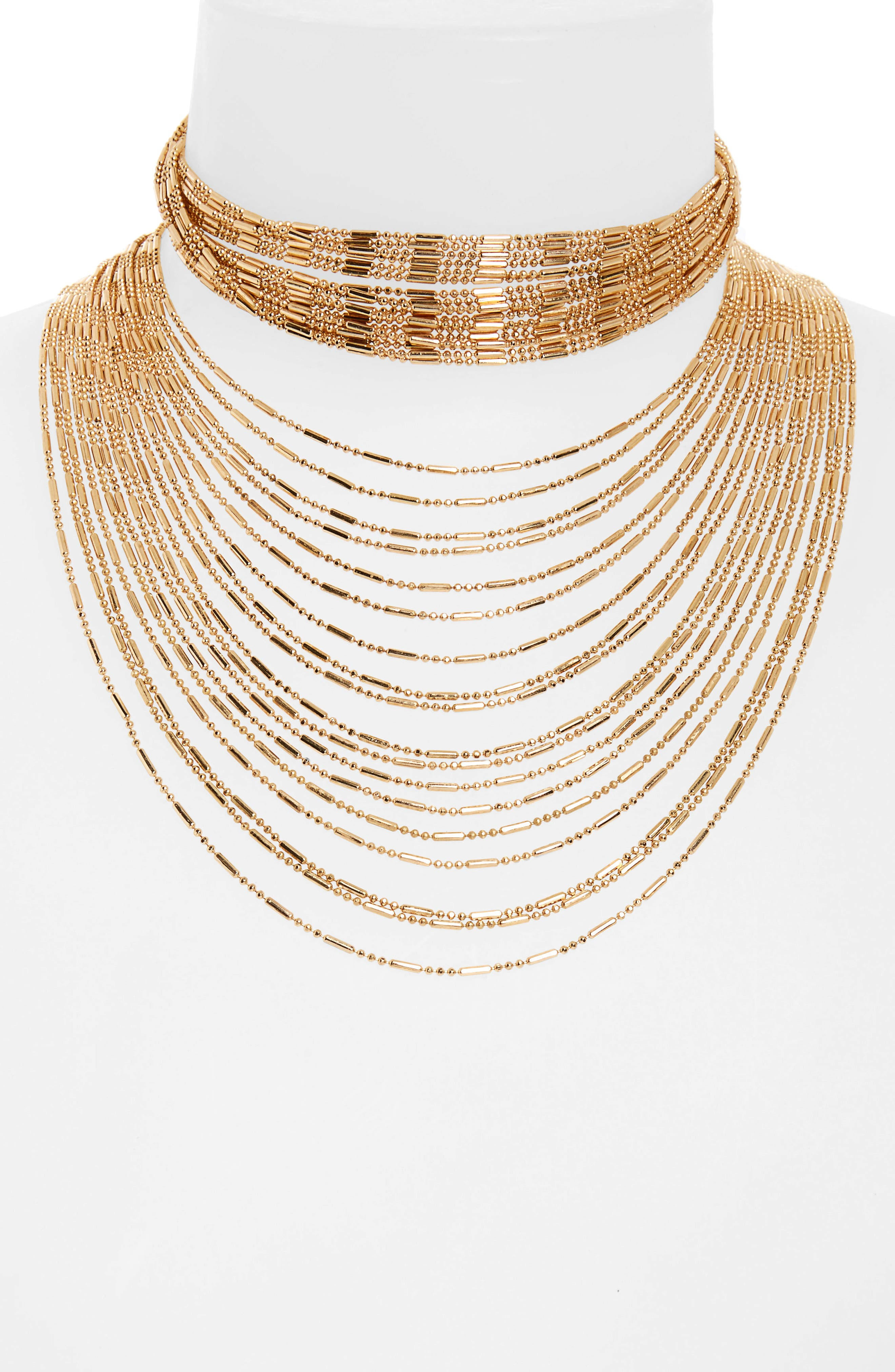 PANACEA Multistrand Statement Necklace