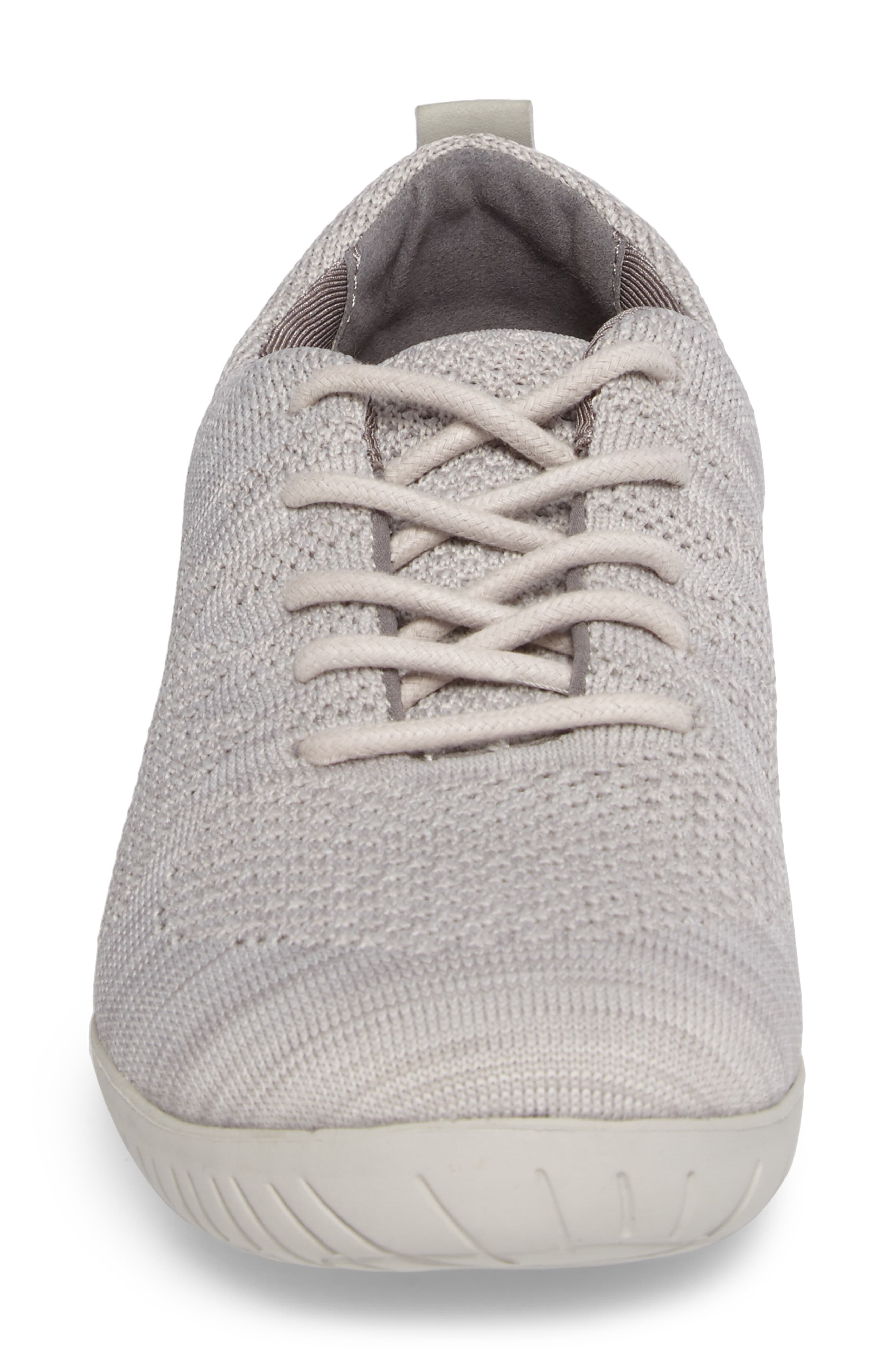 Raelyn Knit Sneaker,                             Alternate thumbnail 4, color,                             Cloud Fabric