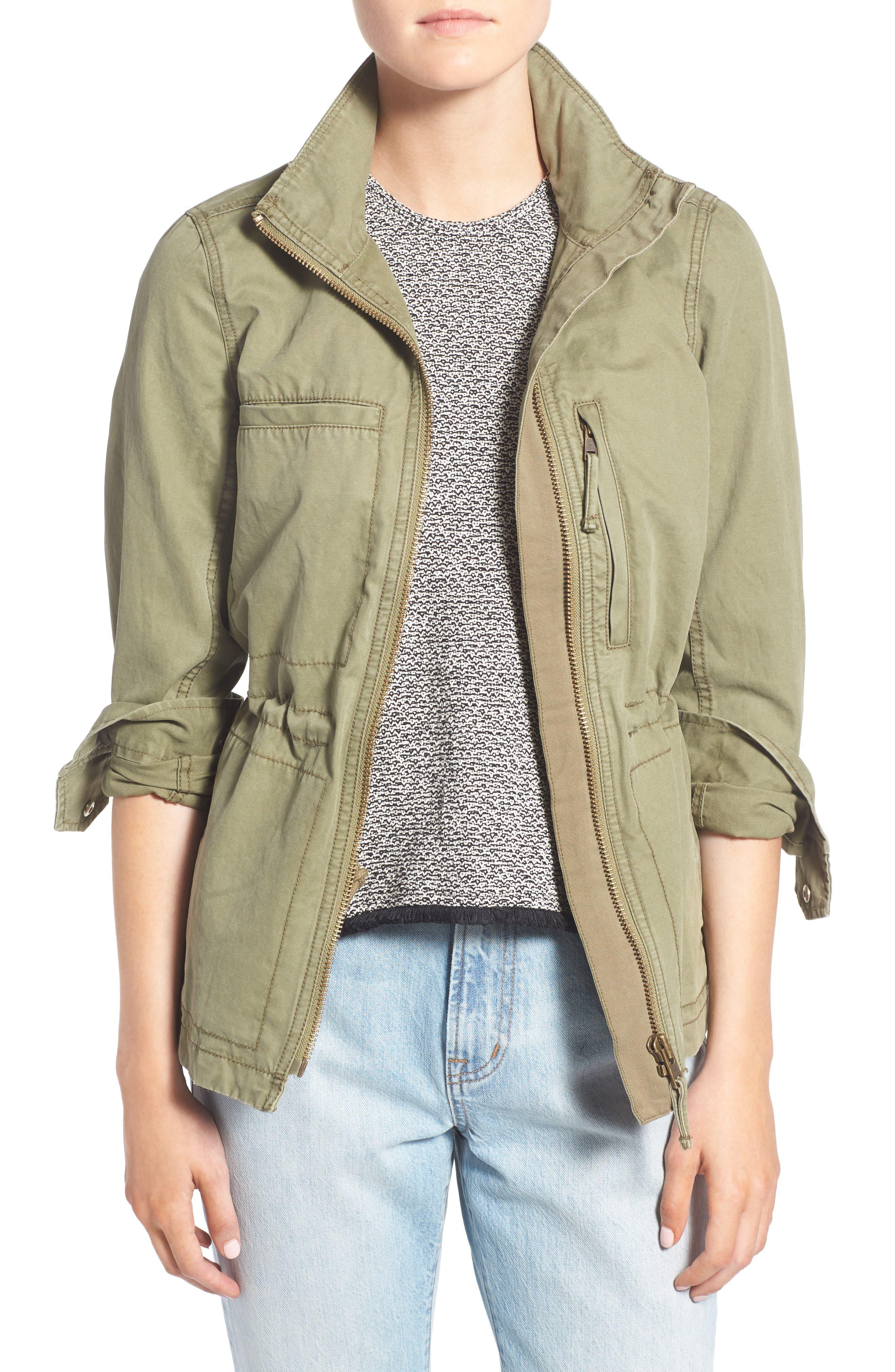 Fleet Jacket,                         Main,                         color, Desert Olive