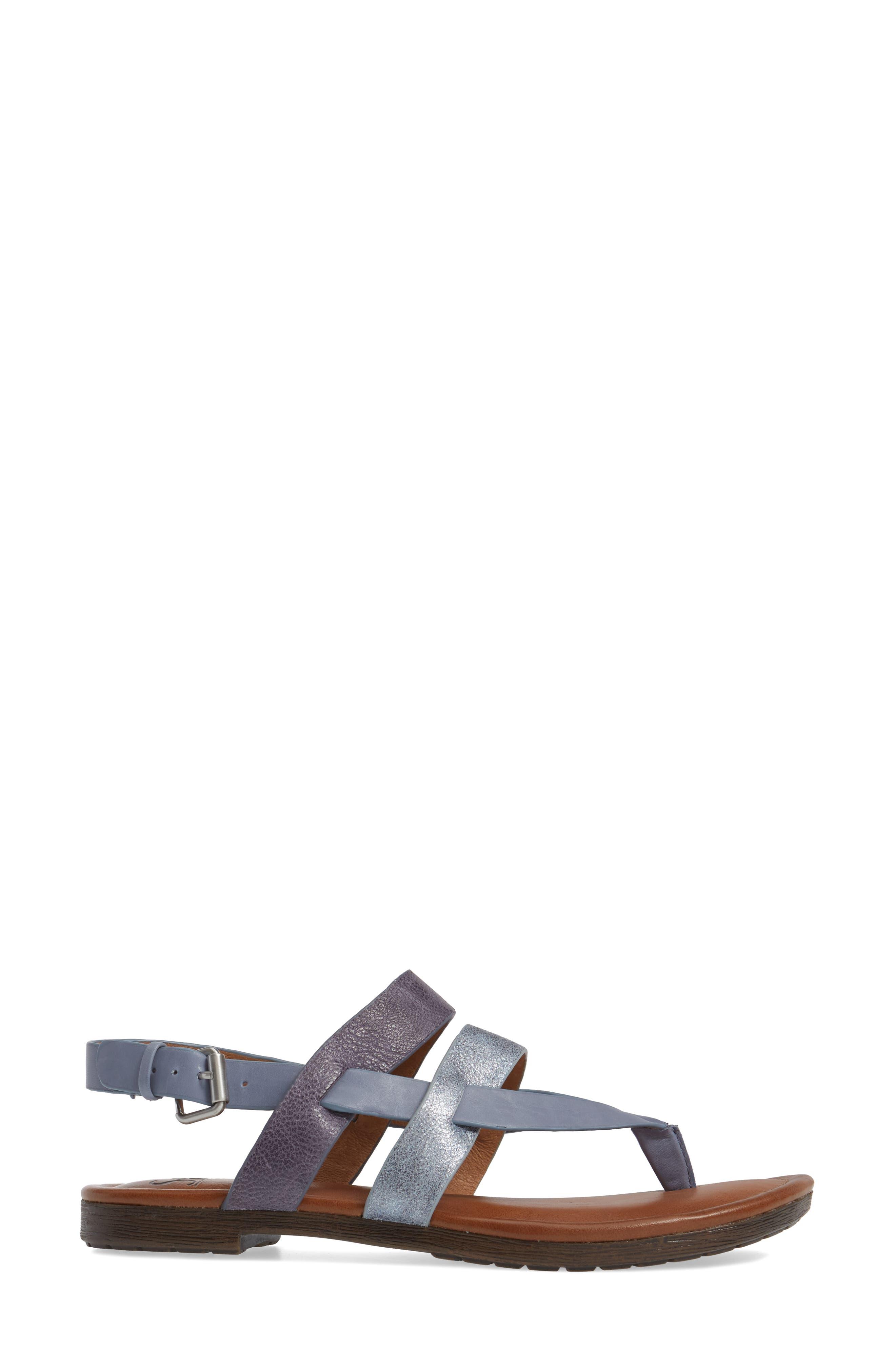 Bena Strappy Sandal,                             Alternate thumbnail 3, color,                             Denim/ Blue/ Pale Blue Leather