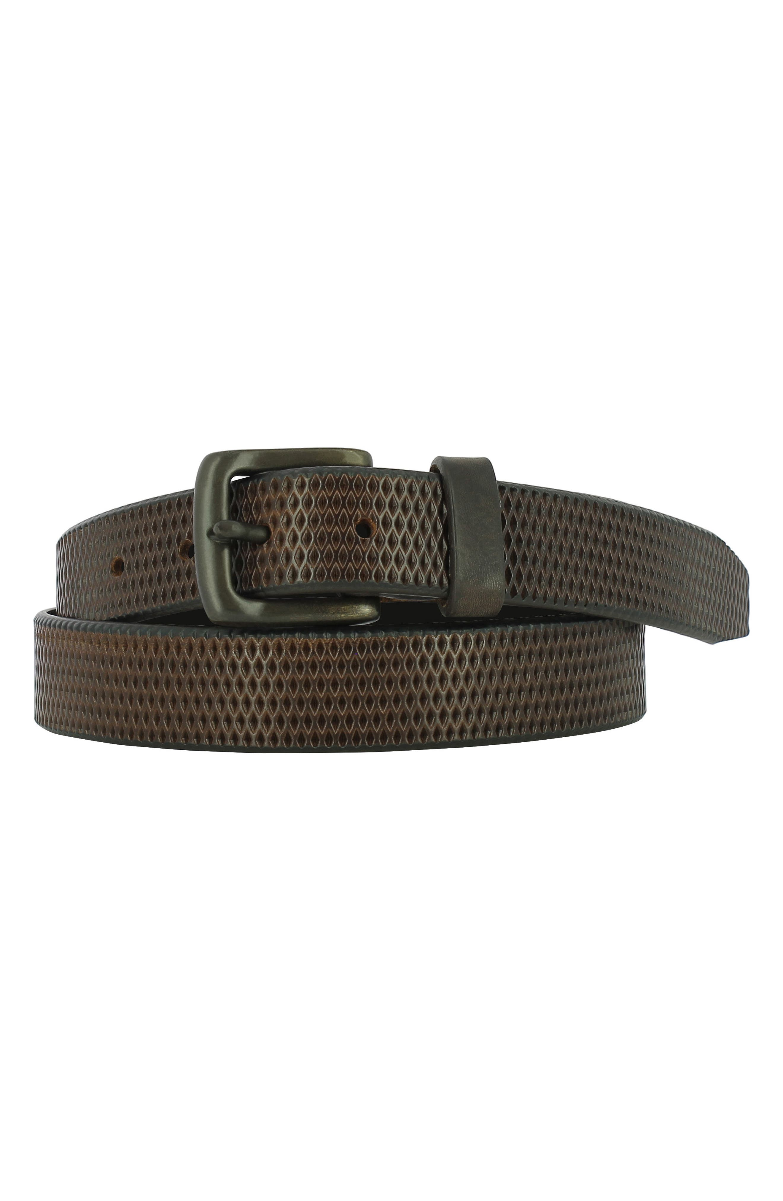 Valentino Leather Belt,                             Main thumbnail 1, color,                             Brown