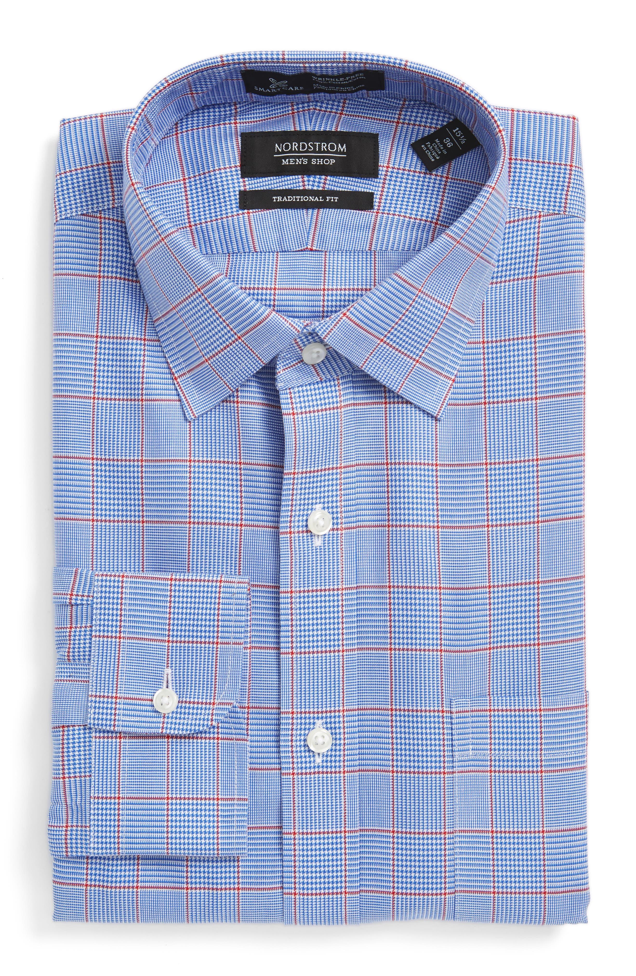 Nordstrom Men's Shop Smartcare™ Traditional Fit Plaid Dress Shirt