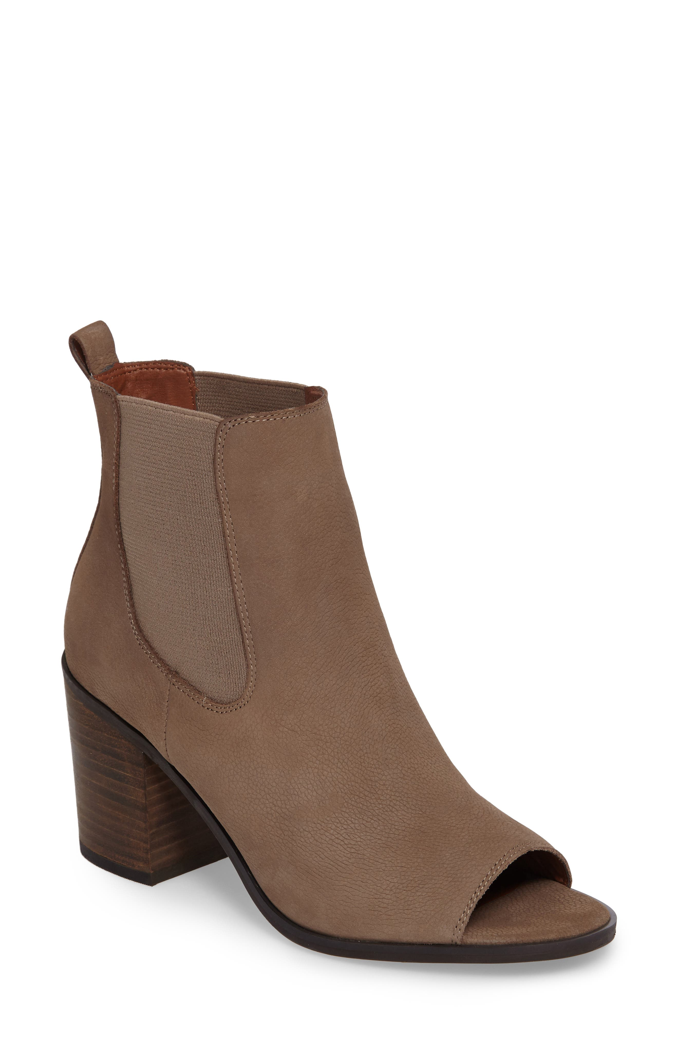 Alternate Image 1 Selected - Lucky Brand Kassidy Open Toe Chelsea Bootie (Women)