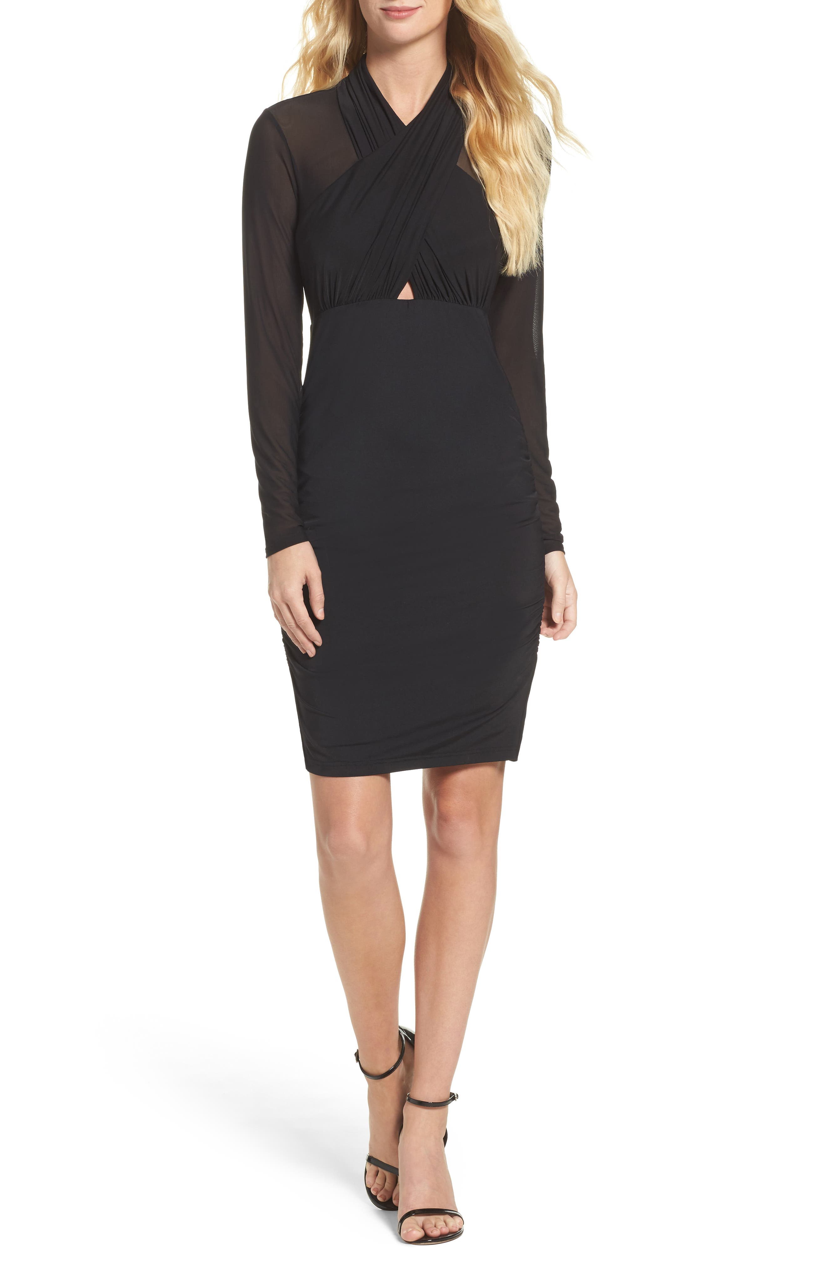 Allure Sheath Dress,                             Main thumbnail 1, color,                             Black