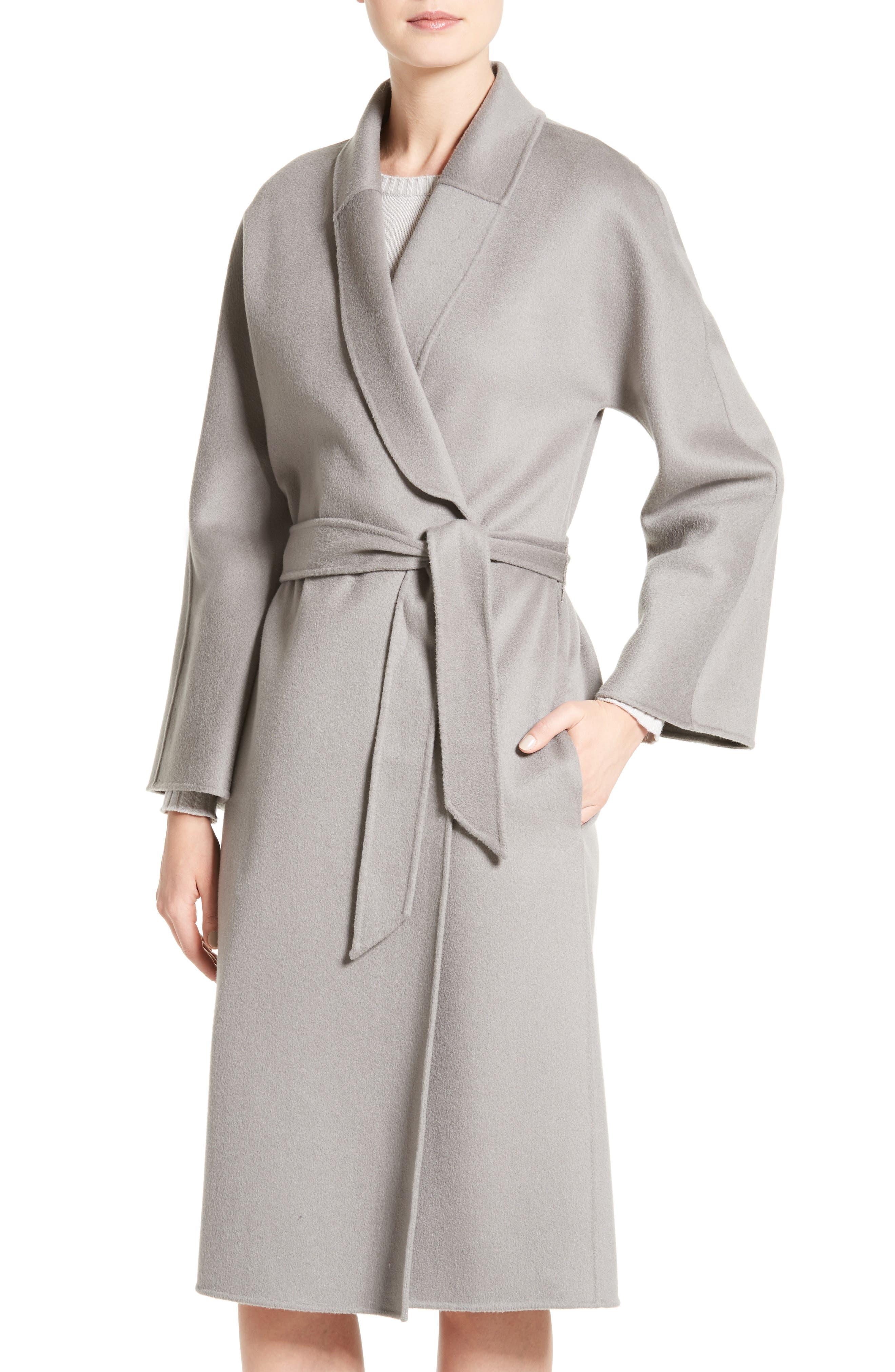 Main Image - Armani Collezioni Double Face Cashmere Wrap Coat