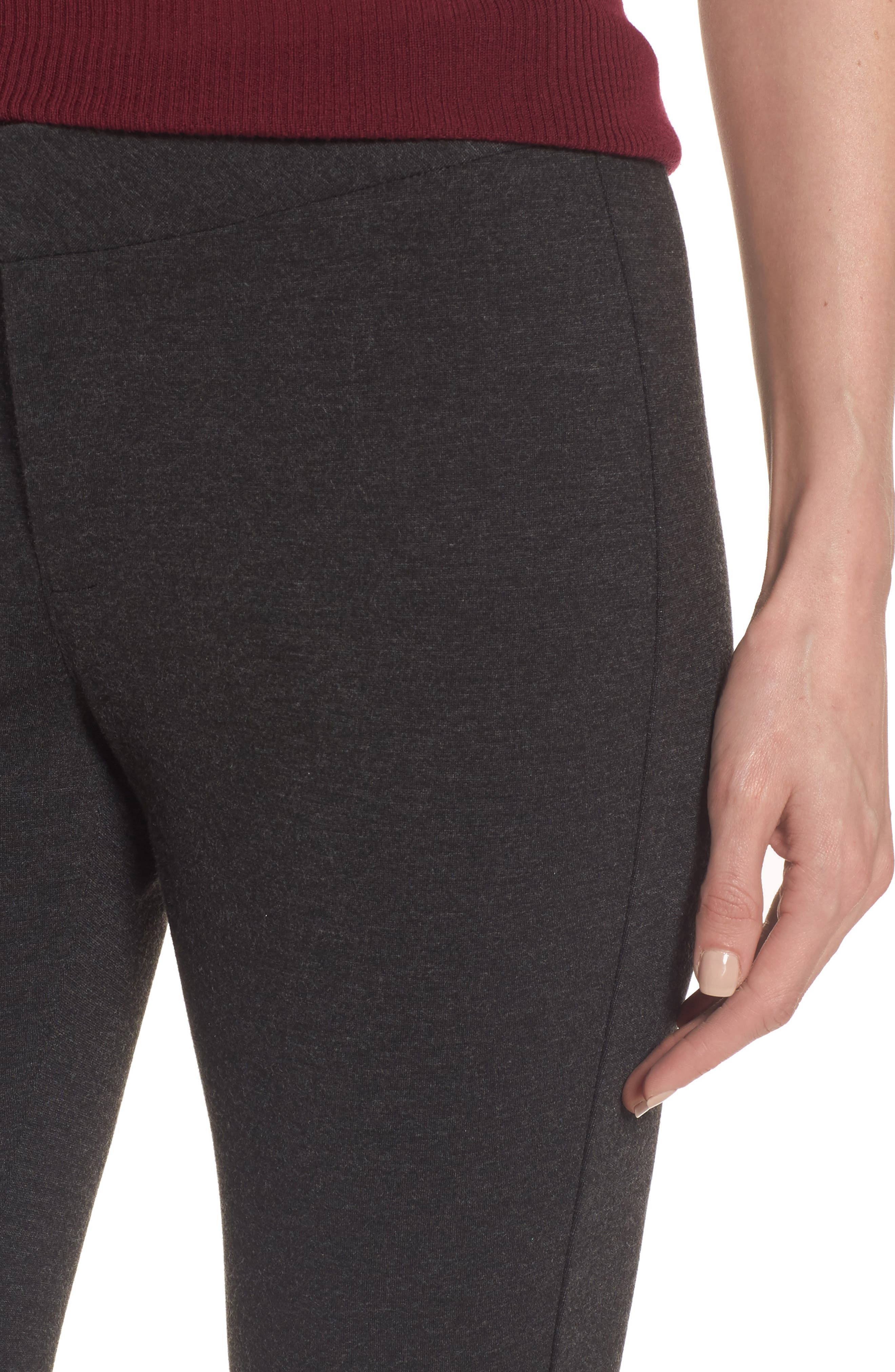Stretch Knit Trousers,                             Alternate thumbnail 4, color,                             Charcoal