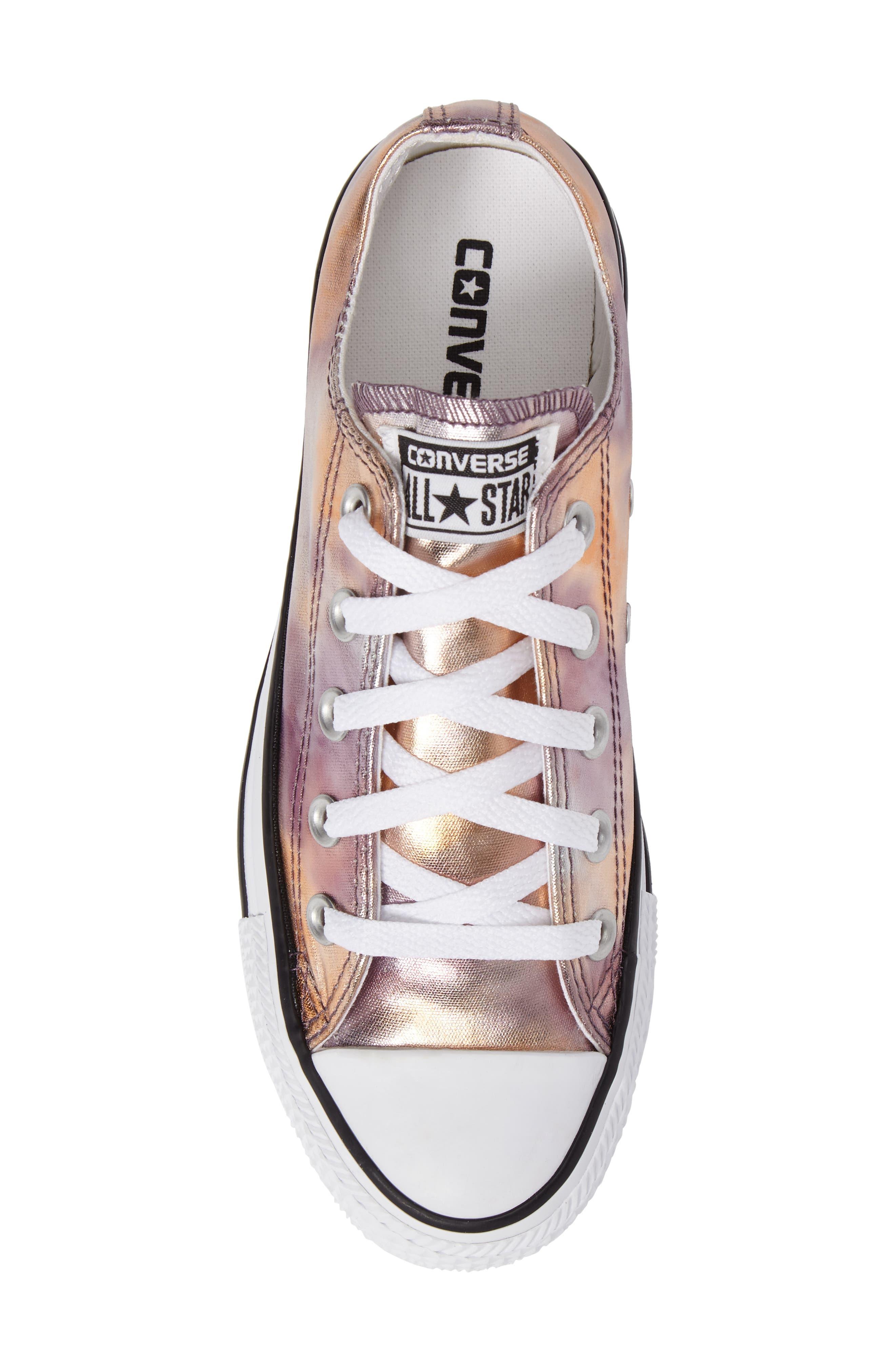 Chuck Taylor<sup>®</sup> All Star<sup>®</sup> Seasonal Metallic Ox Low Top Sneaker,                             Alternate thumbnail 5, color,                             Dusk Pink