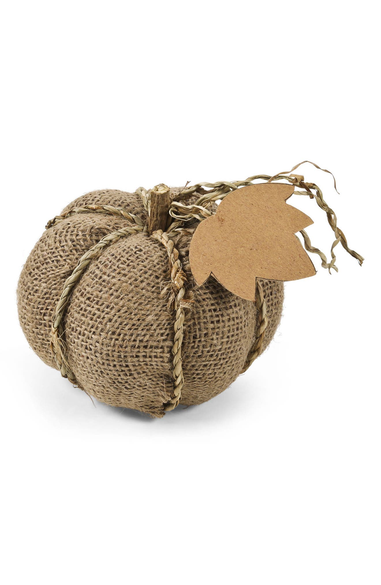Alternate Image 1 Selected - K & K Interiors Burlap Pumpkin