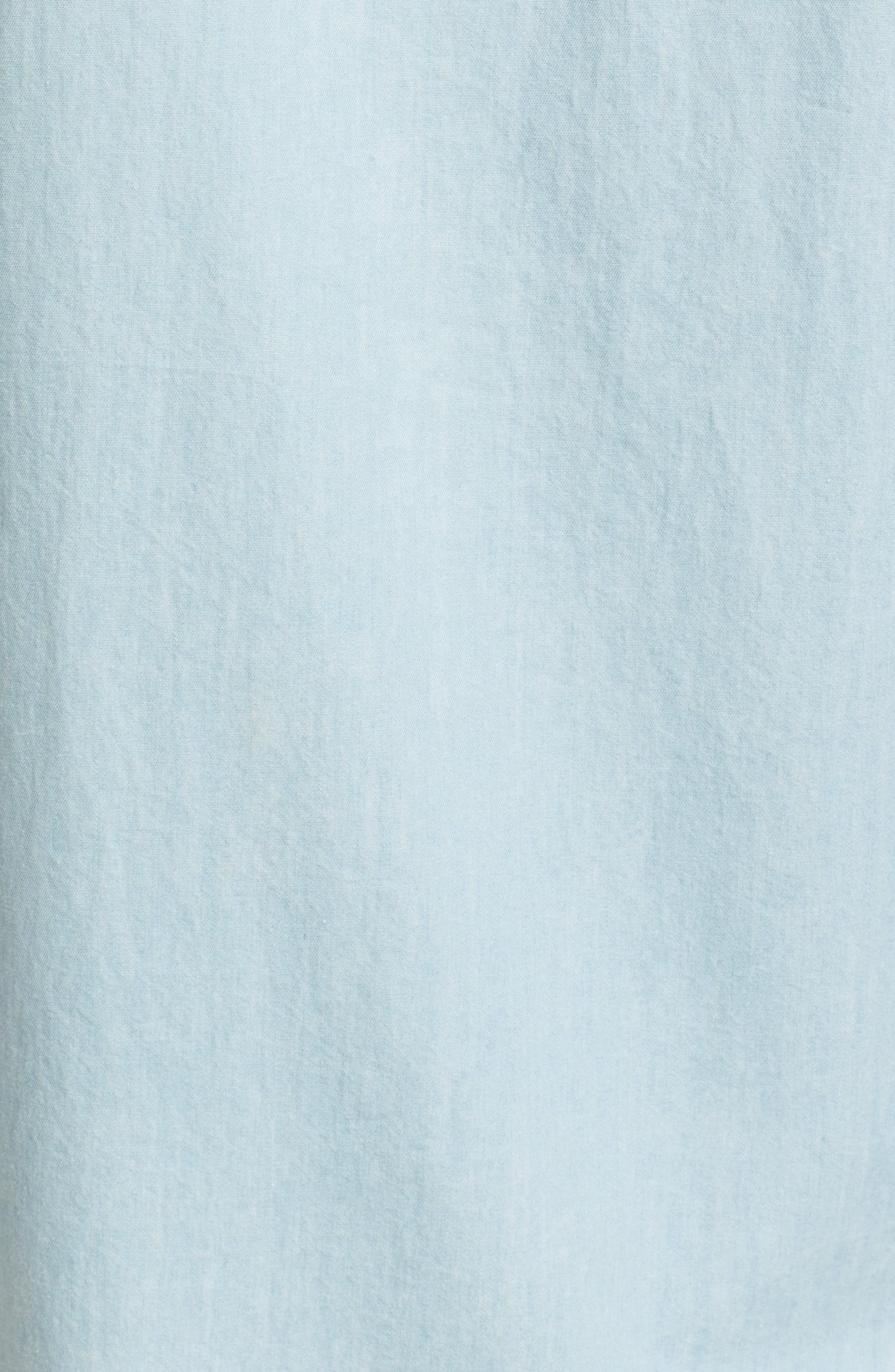 Alternate Image 5  - Saturdays NYC Esquina Slim Fit Denim Sport Shirt