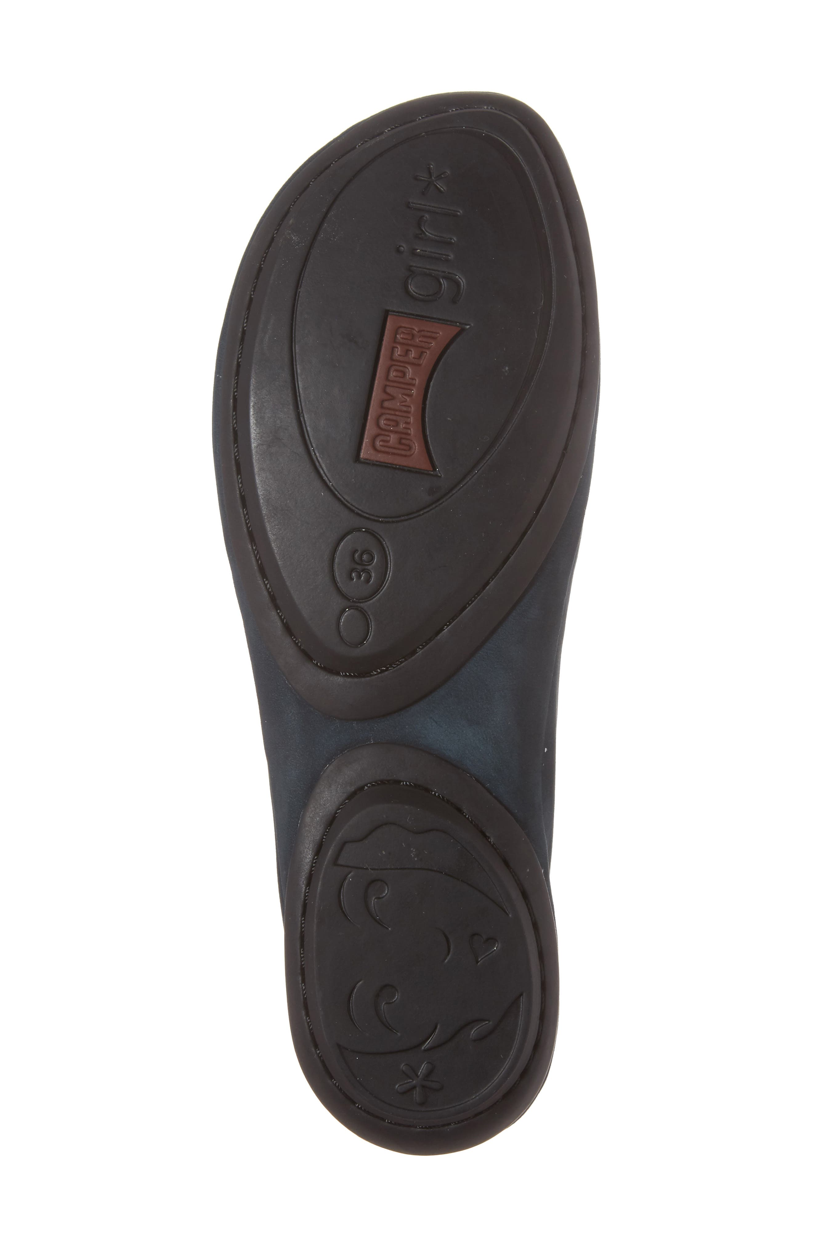 'Right Nina' Leather Flat,                             Alternate thumbnail 6, color,                             Dark Blue Leather