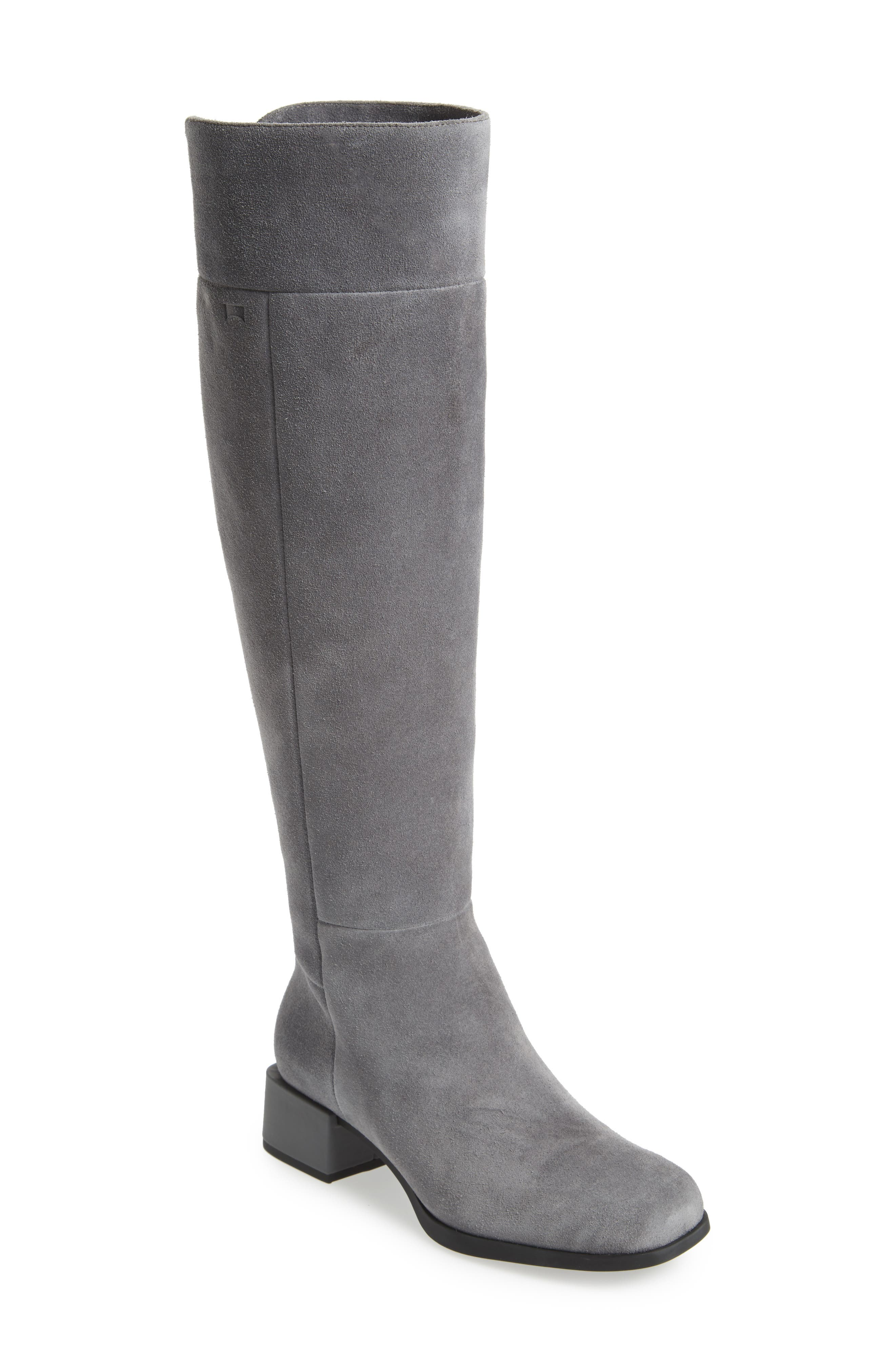 Kobo Knee High Boot,                             Main thumbnail 1, color,                             Grey Leather