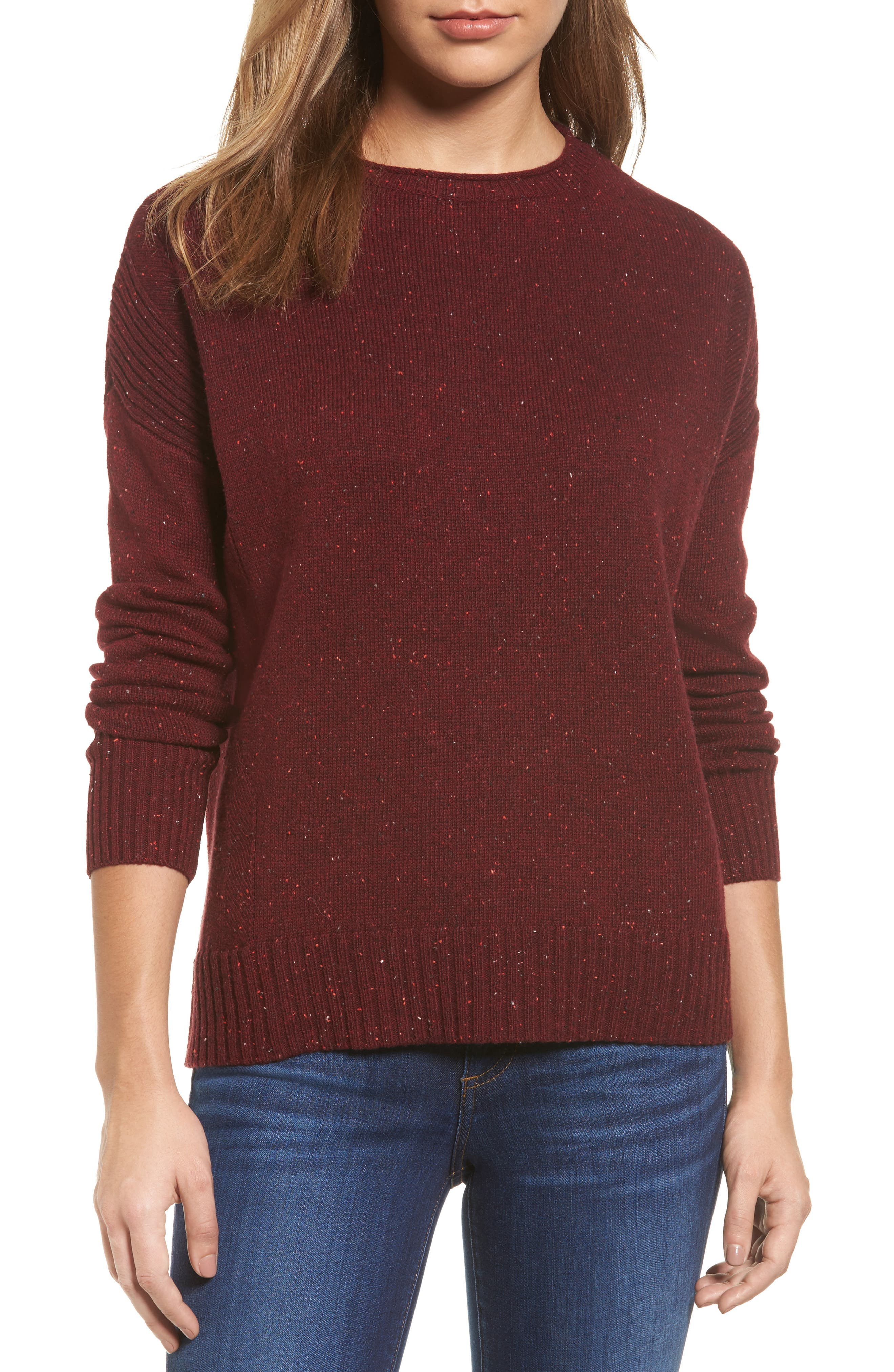 Main Image - Caslon® Back Zip Pullover