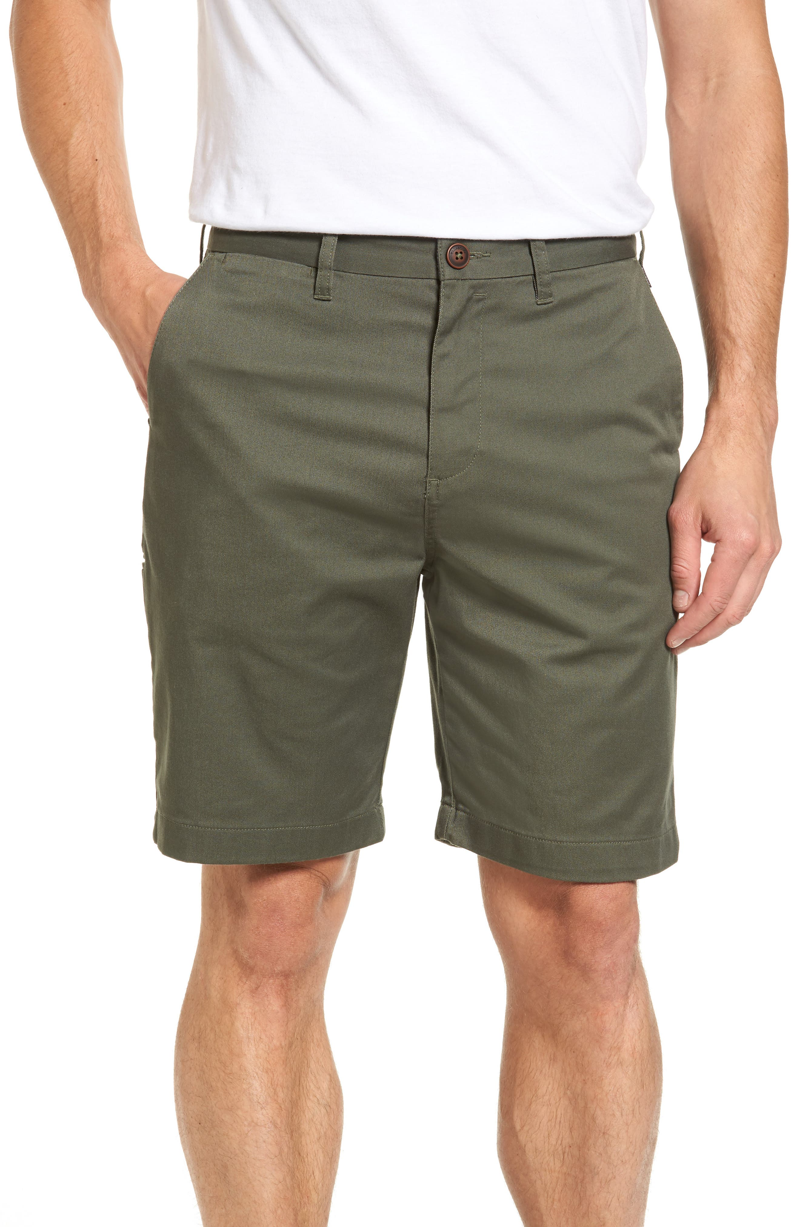 Carter Stretch Twill Shorts,                         Main,                         color, Military