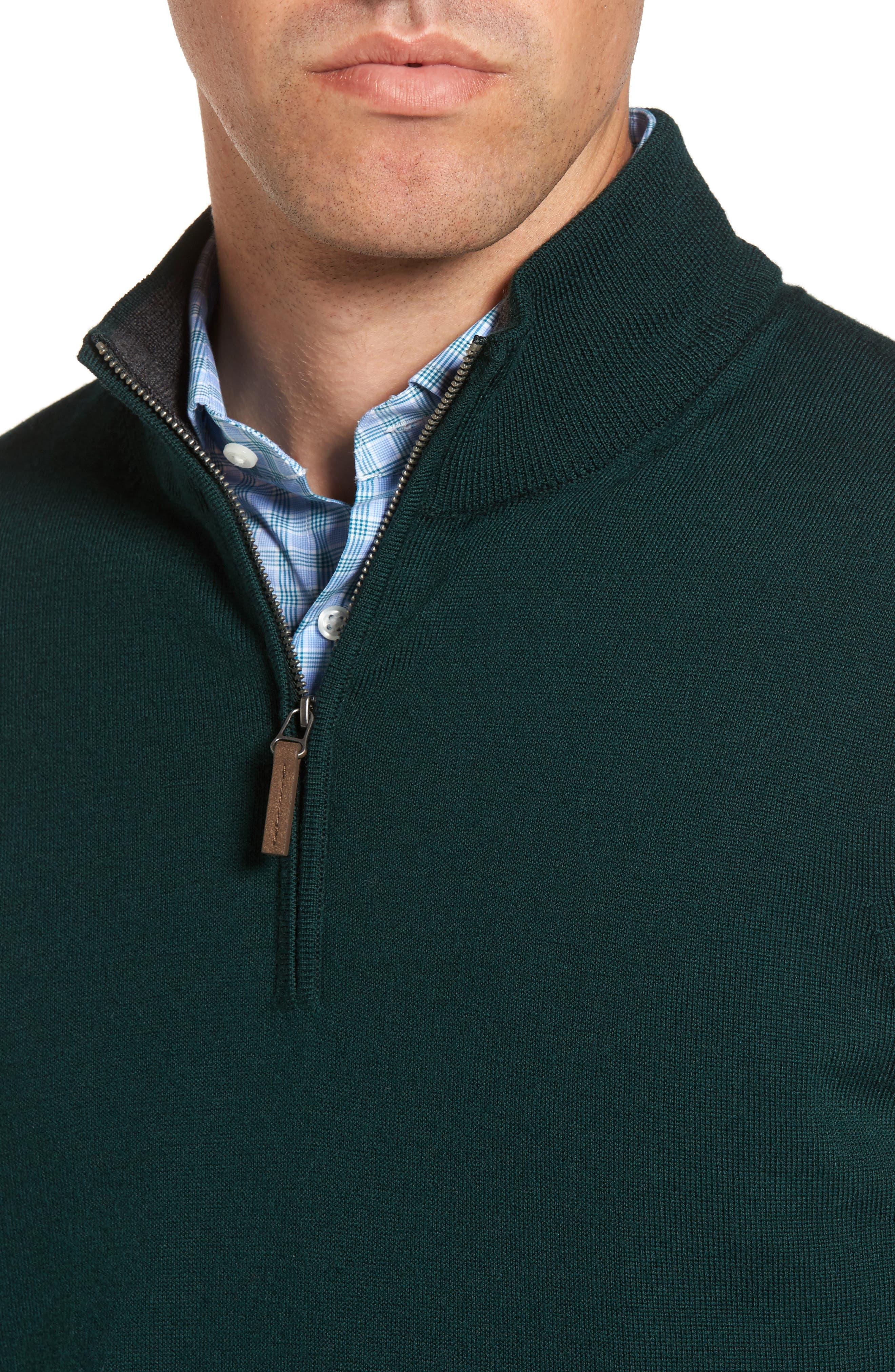 Alternate Image 4  - Nordstrom Men's Shop Quarter Zip Wool Pullover