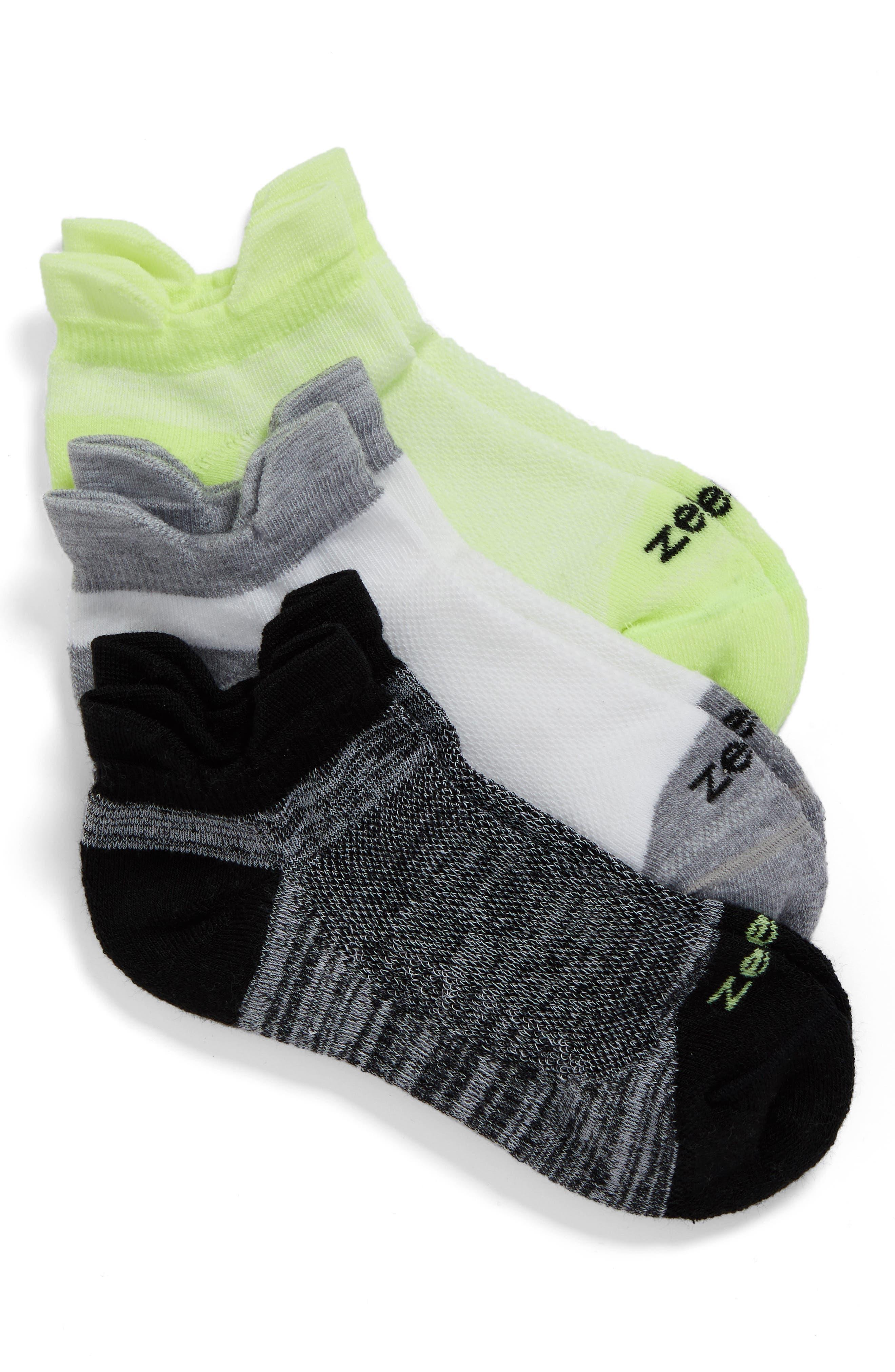 Alternate Image 1 Selected - Zella 3-Pack Running Socks