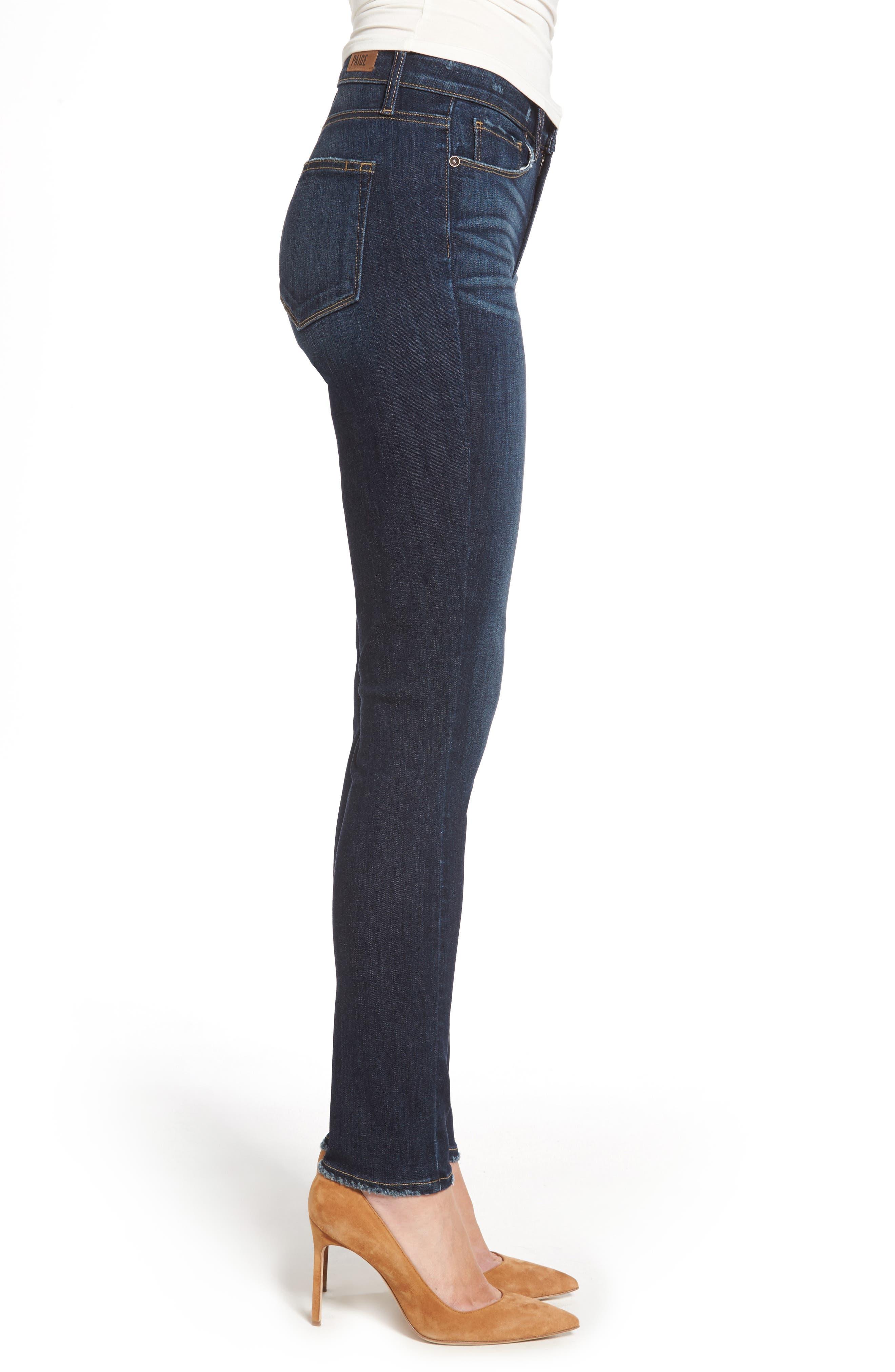 Alternate Image 3  - PAIGE Hoxton High Waist Ankle Skinny Jeans (Revere)