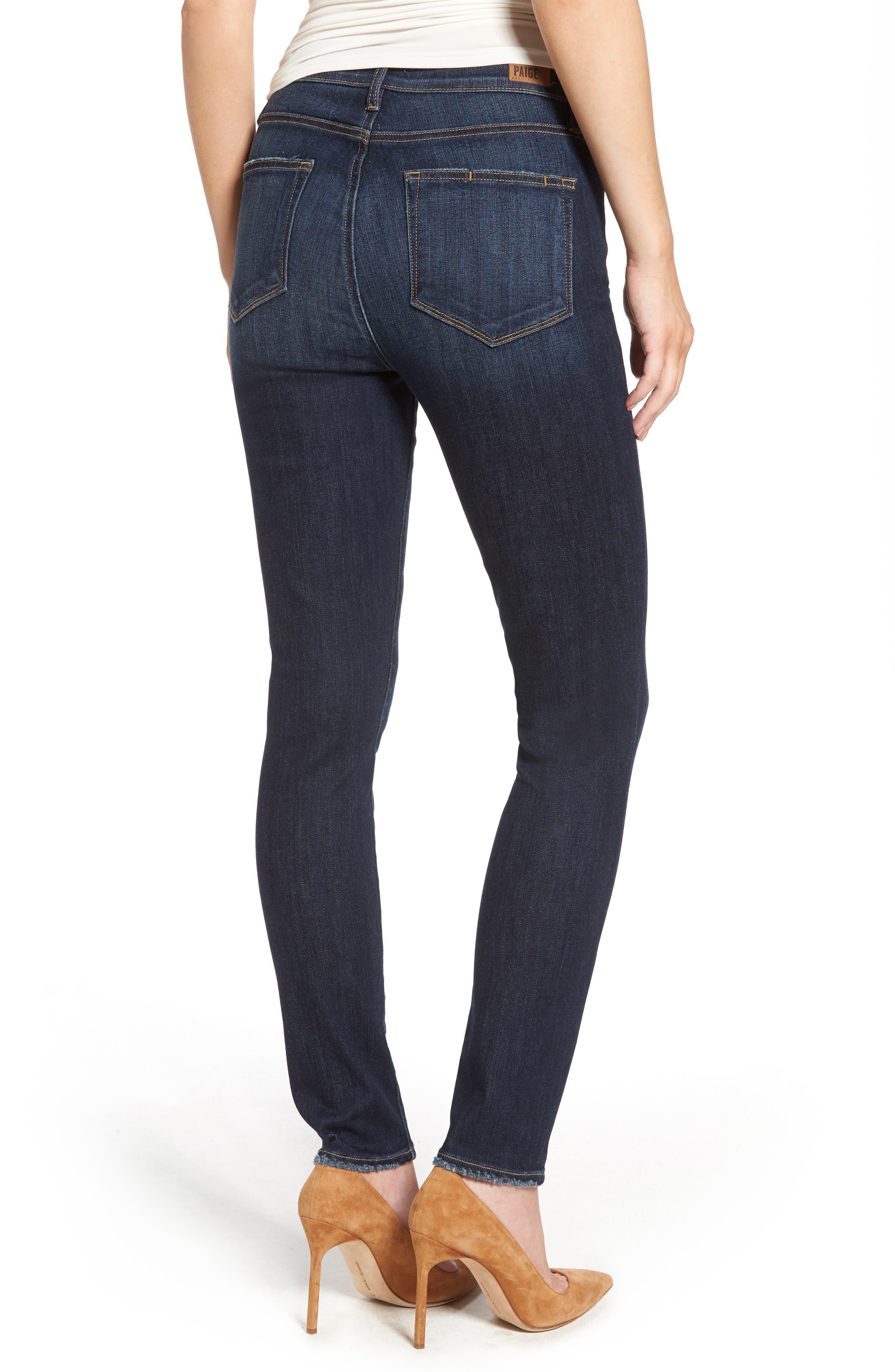Alternate Image 2  - PAIGE Hoxton High Waist Ankle Skinny Jeans (Revere)