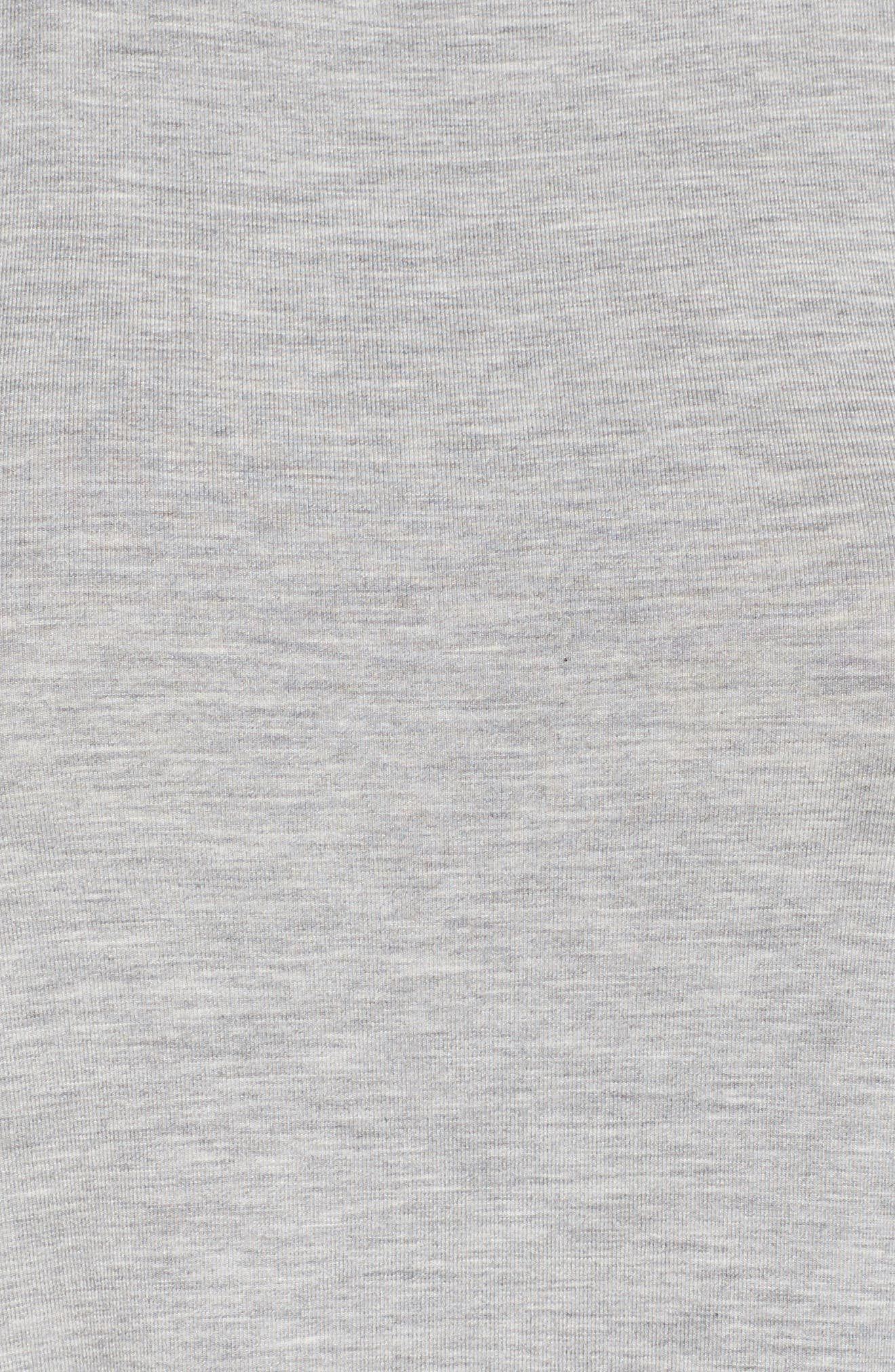 Chelsea High/Low Chemise,                             Alternate thumbnail 5, color,                             Heather Grey