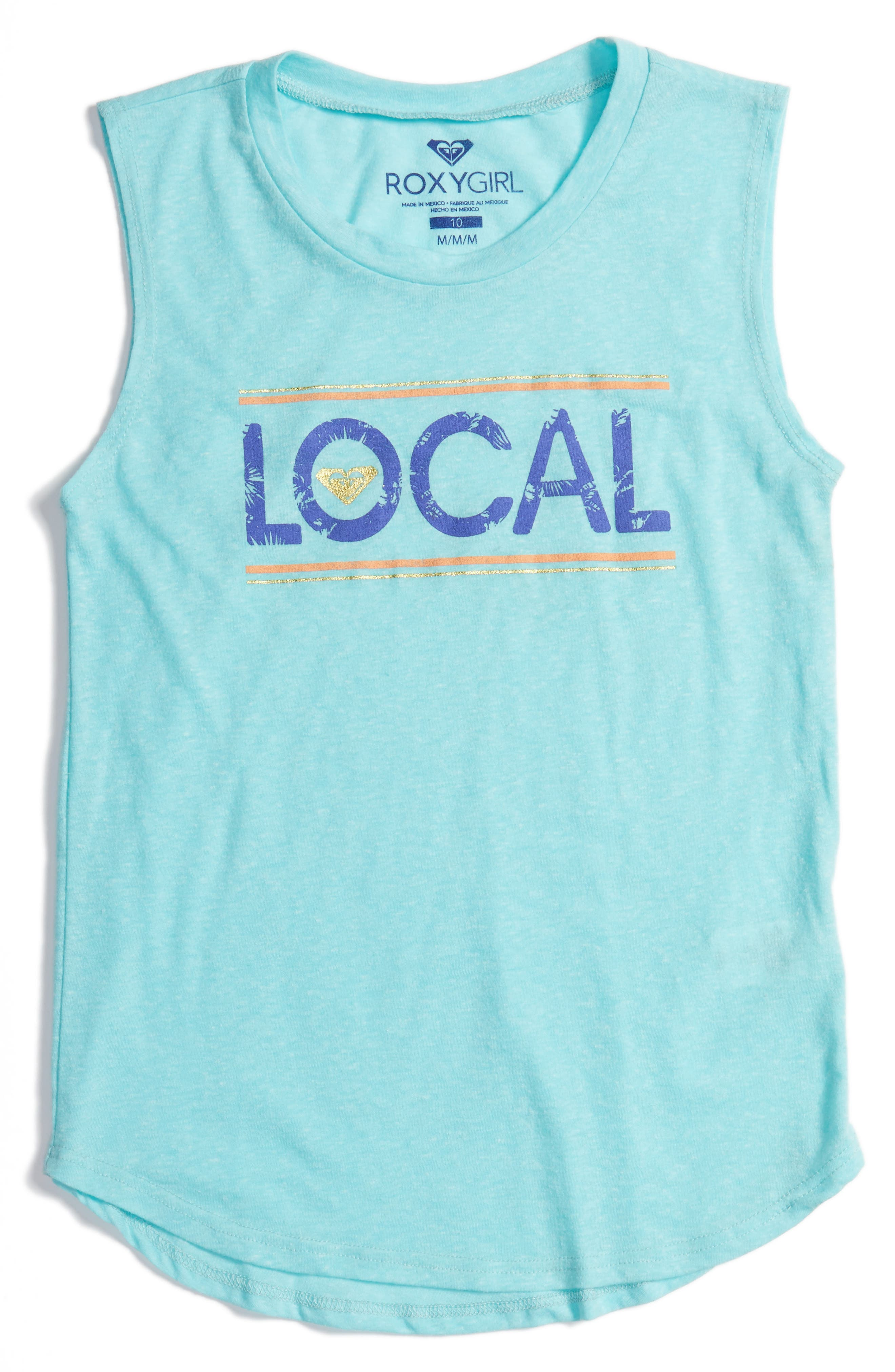 Live Local Graphic Muscle Tank,                         Main,                         color, Blue Radiance