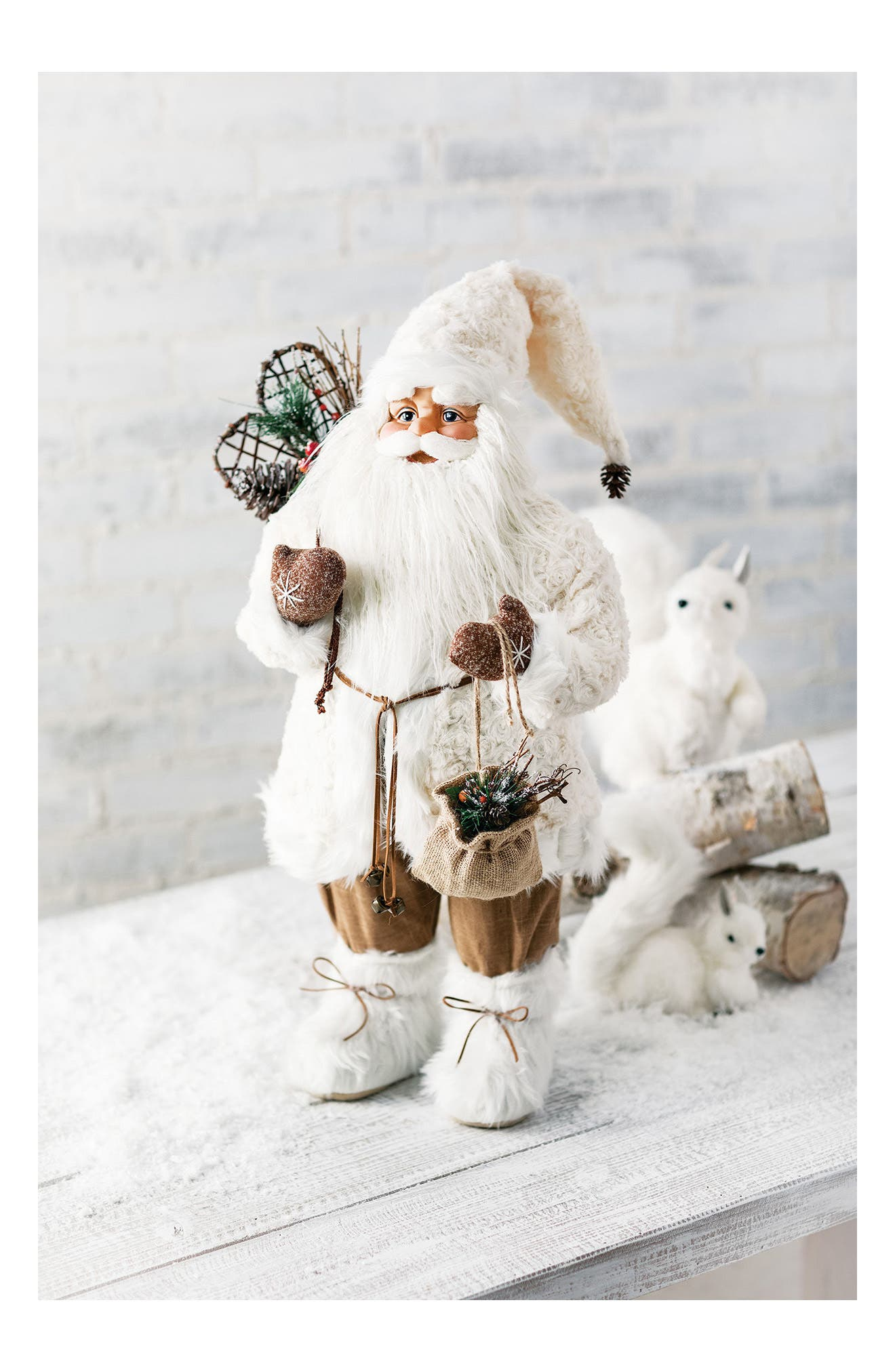Santa Figurine,                             Alternate thumbnail 2, color,                             White